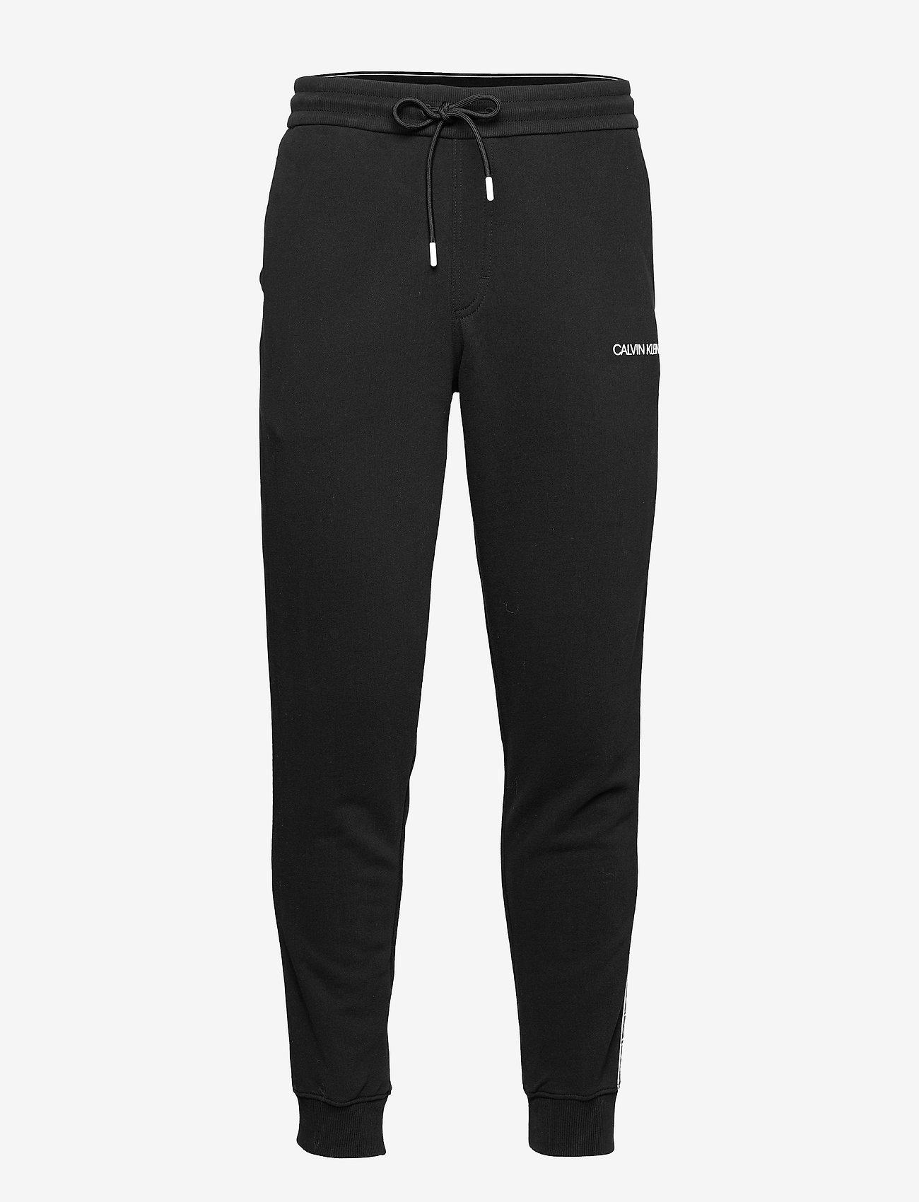 Calvin Klein - ESSENTIAL LOGO TAPE SWEATPANT - kleding - ck black - 0