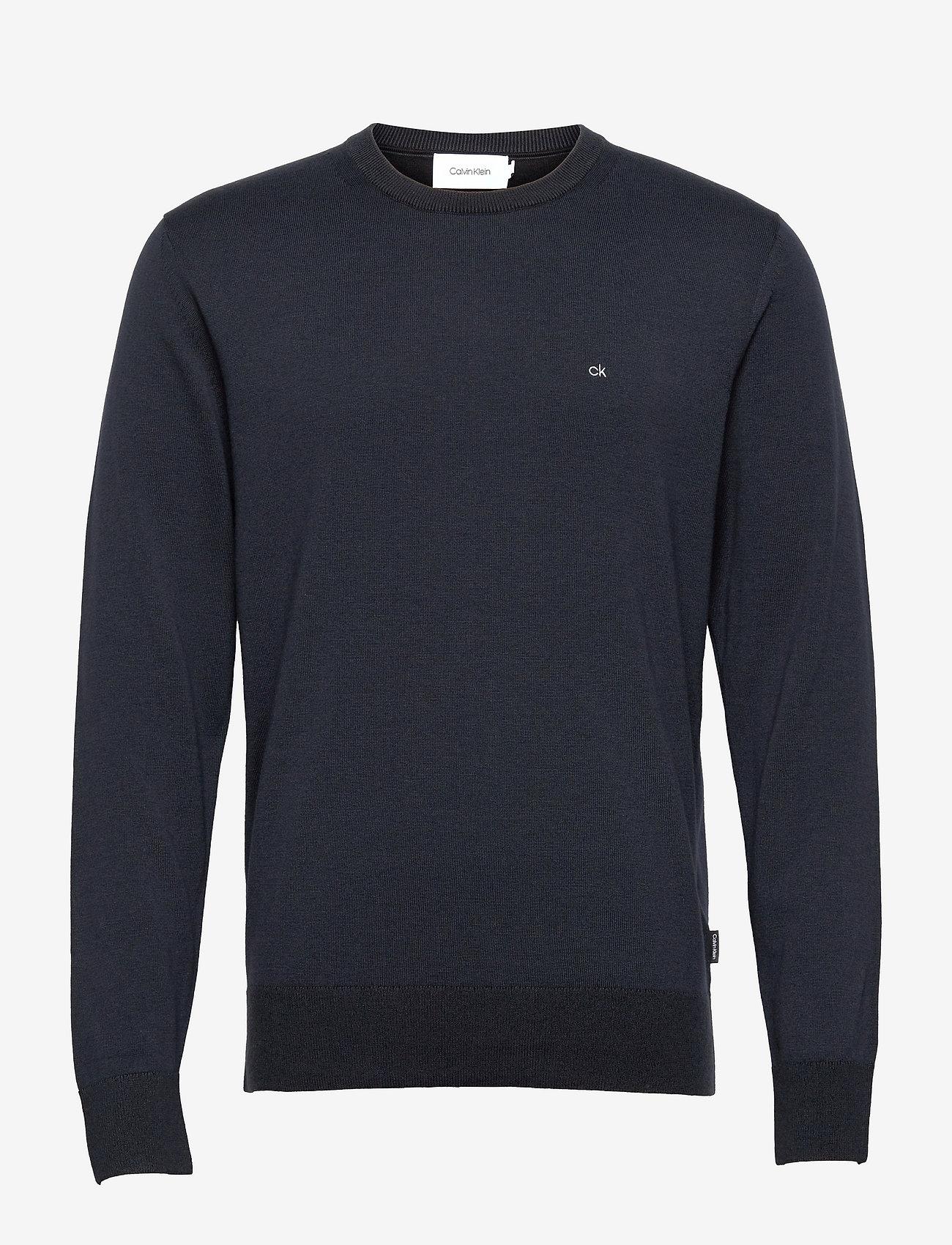 Calvin Klein - COTTON SILK C-NECK SWEATER - basic gebreide truien - calvin navy - 0