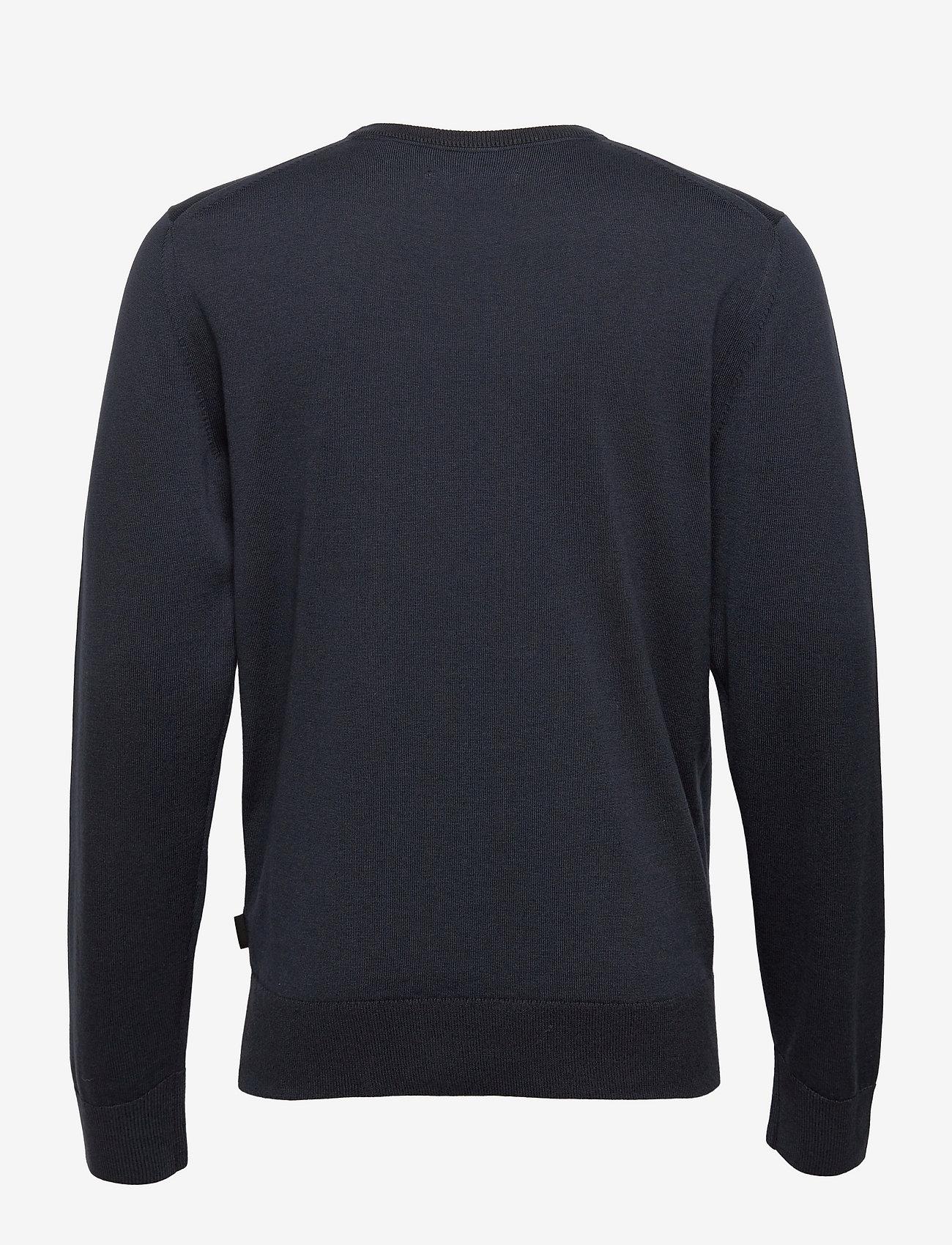 Calvin Klein - COTTON SILK C-NECK SWEATER - basic gebreide truien - calvin navy - 1