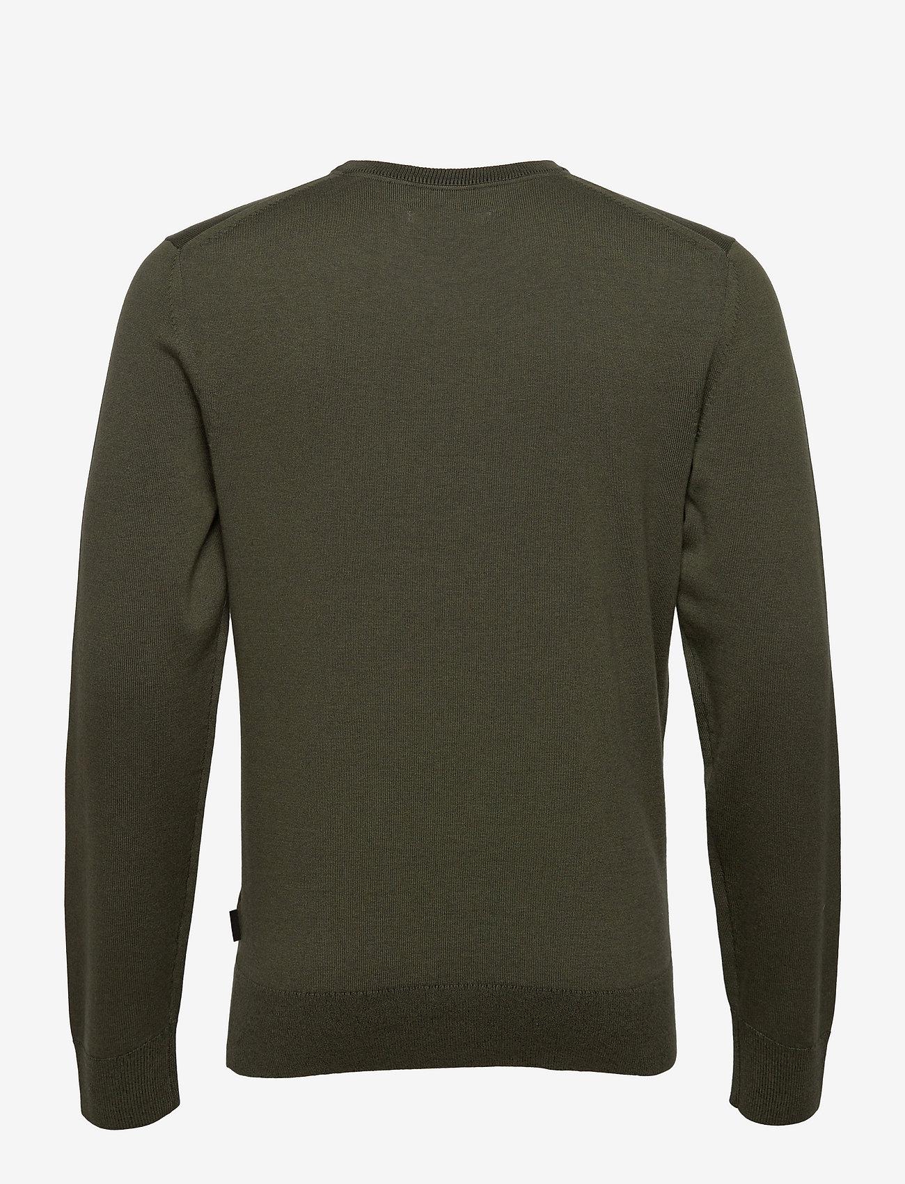 Calvin Klein - COTTON SILK C-NECK SWEATER - basic gebreide truien - dark olive - 1