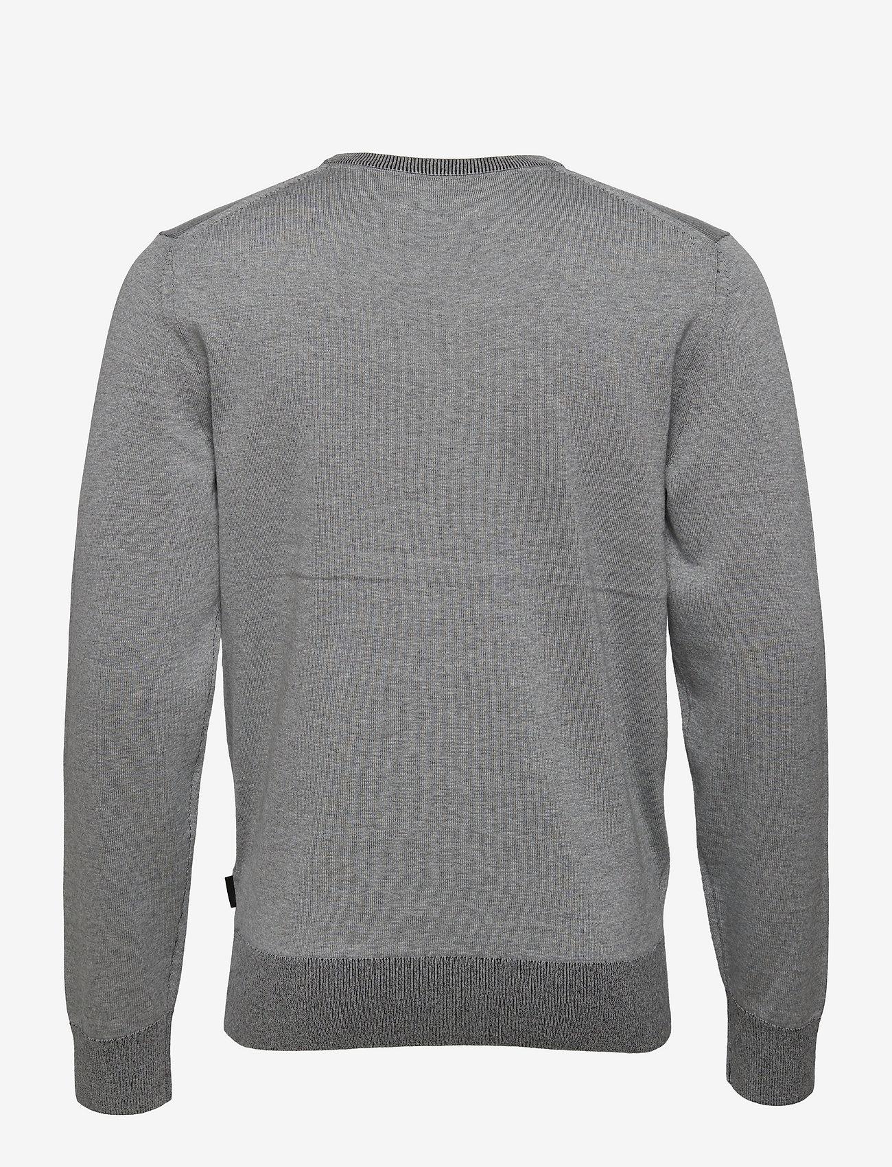Calvin Klein - COTTON SILK C-NECK SWEATER - basic gebreide truien - mid grey heather - 1