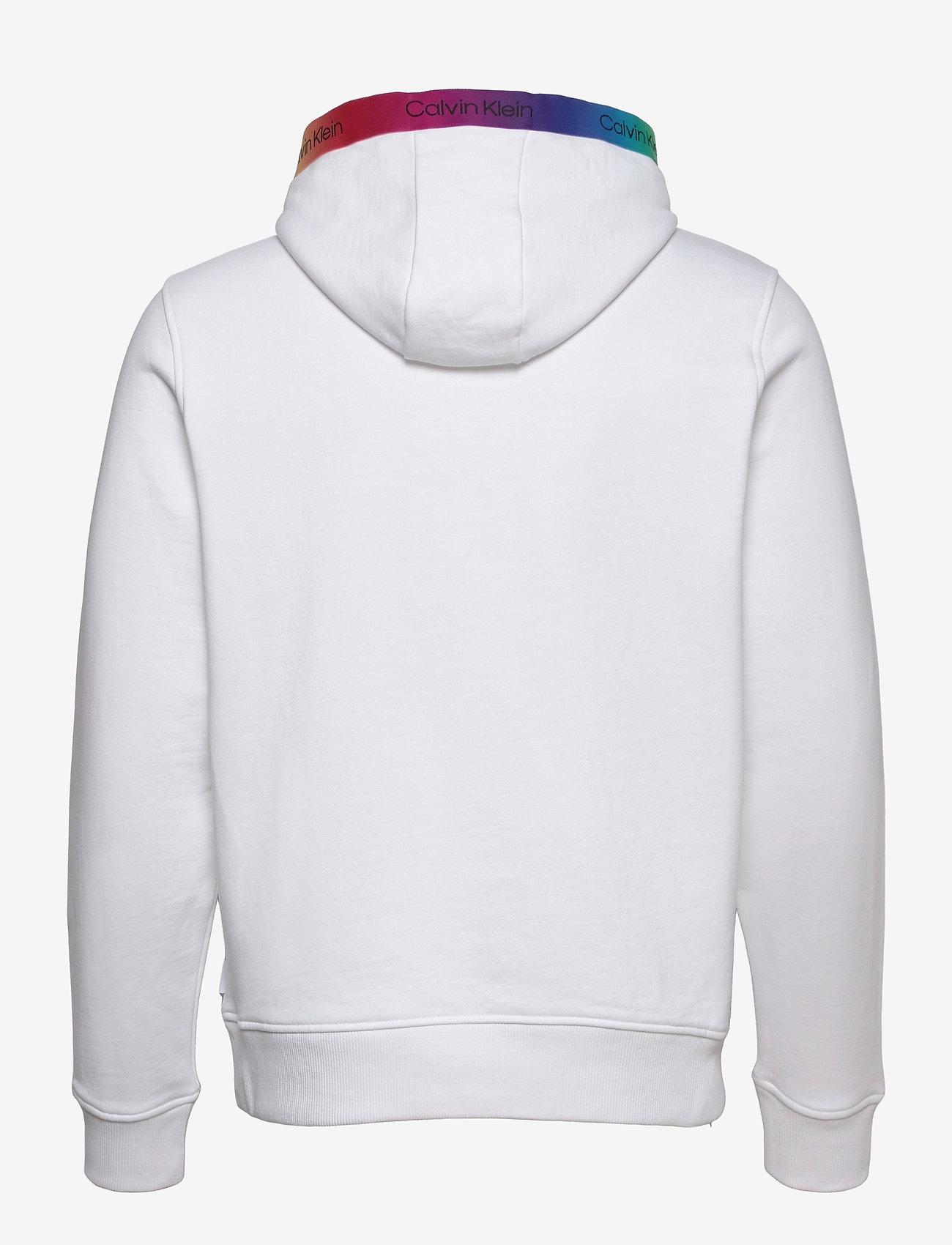 Calvin Klein - PRIDE SMALL LOGO HOODIE - hoodies - bright white - 1