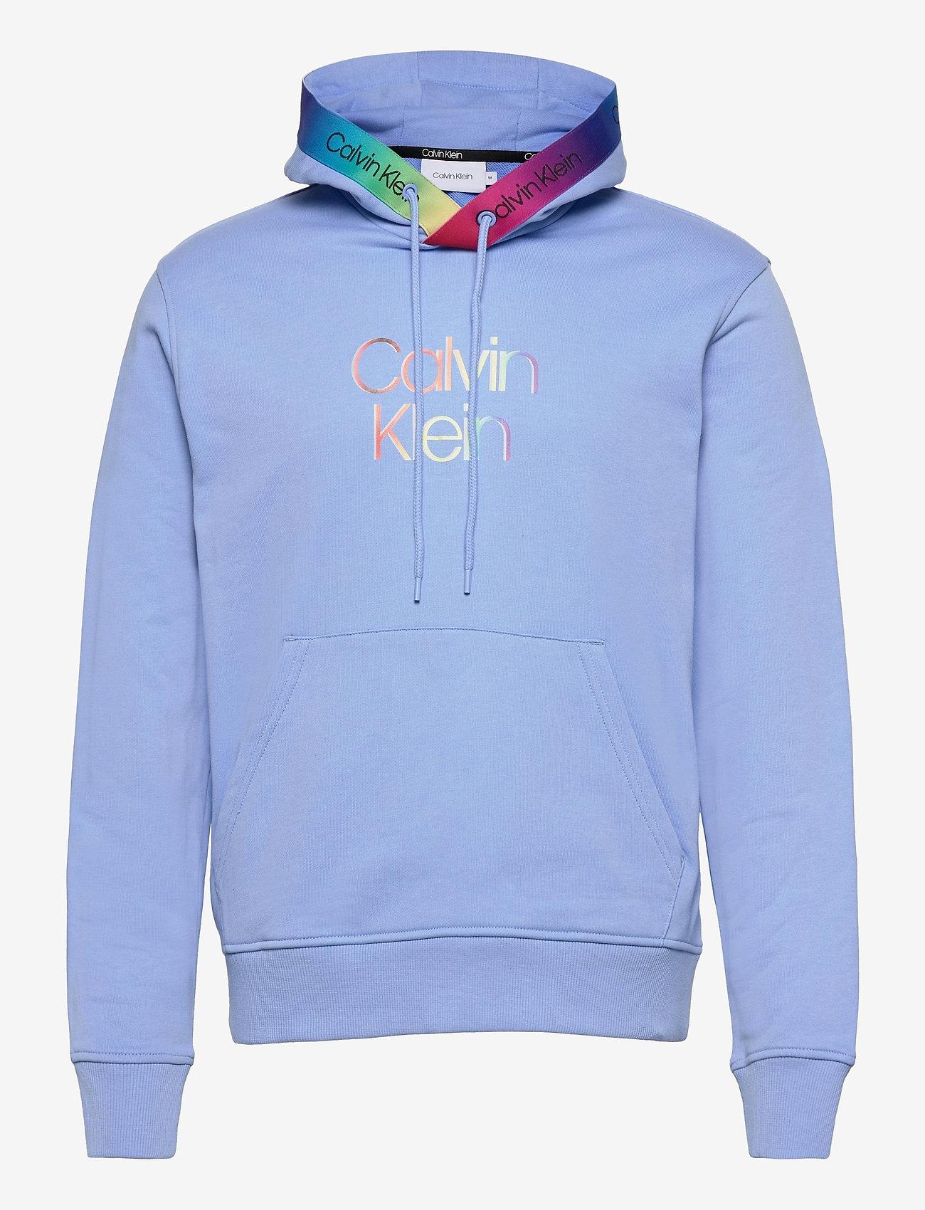 Calvin Klein - PRIDE SMALL LOGO HOODIE - sweats à capuche - vista blue - 0