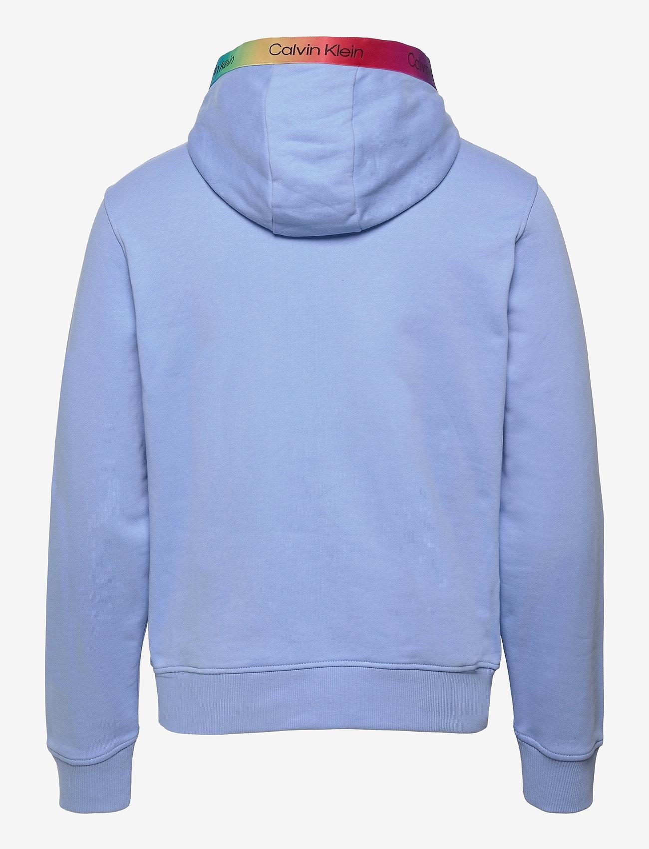 Calvin Klein - PRIDE SMALL LOGO HOODIE - sweats à capuche - vista blue - 1