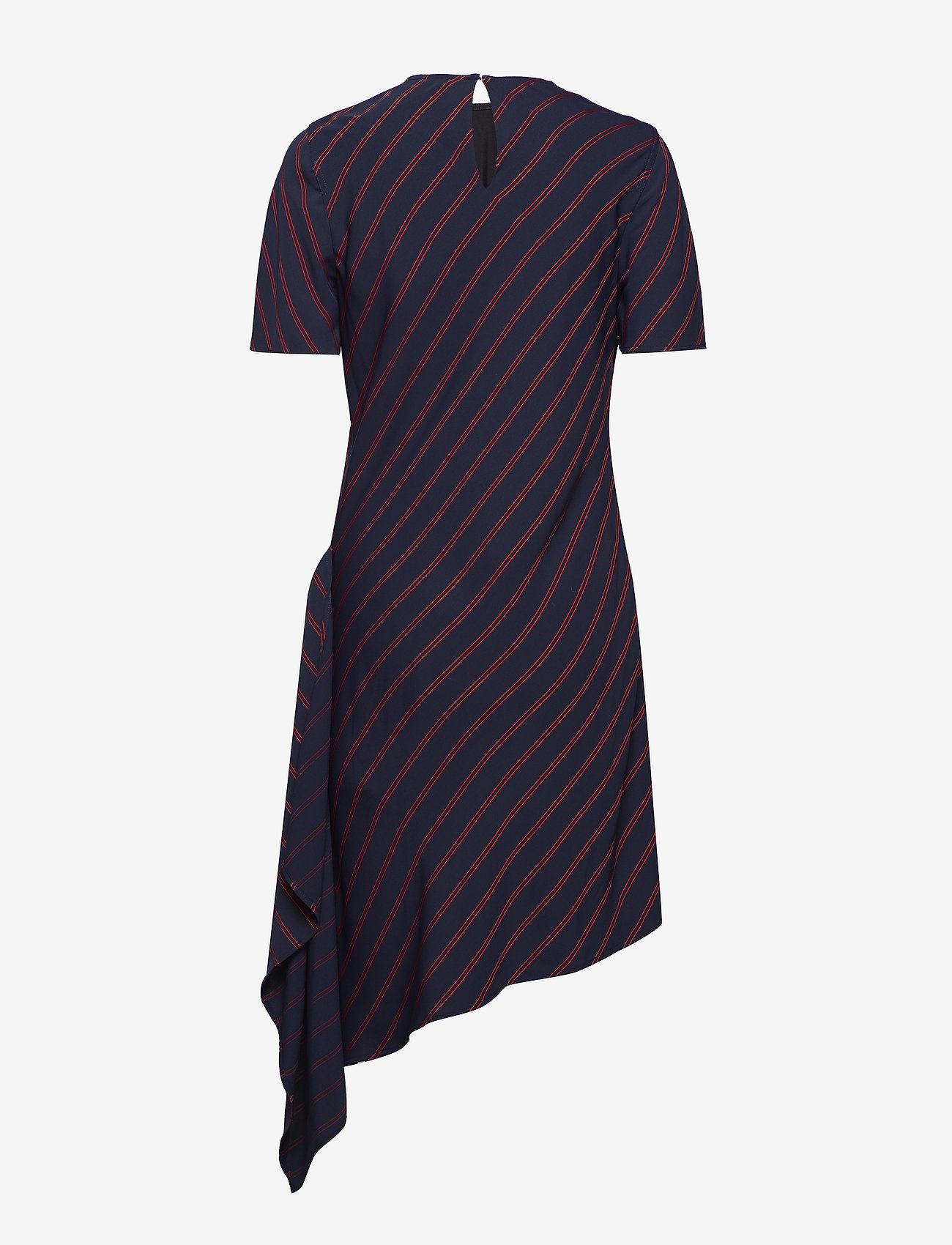 Calvin Klein - FLUID STP DRAPE DRES - robes midi - narrow stripe deep navy - 1