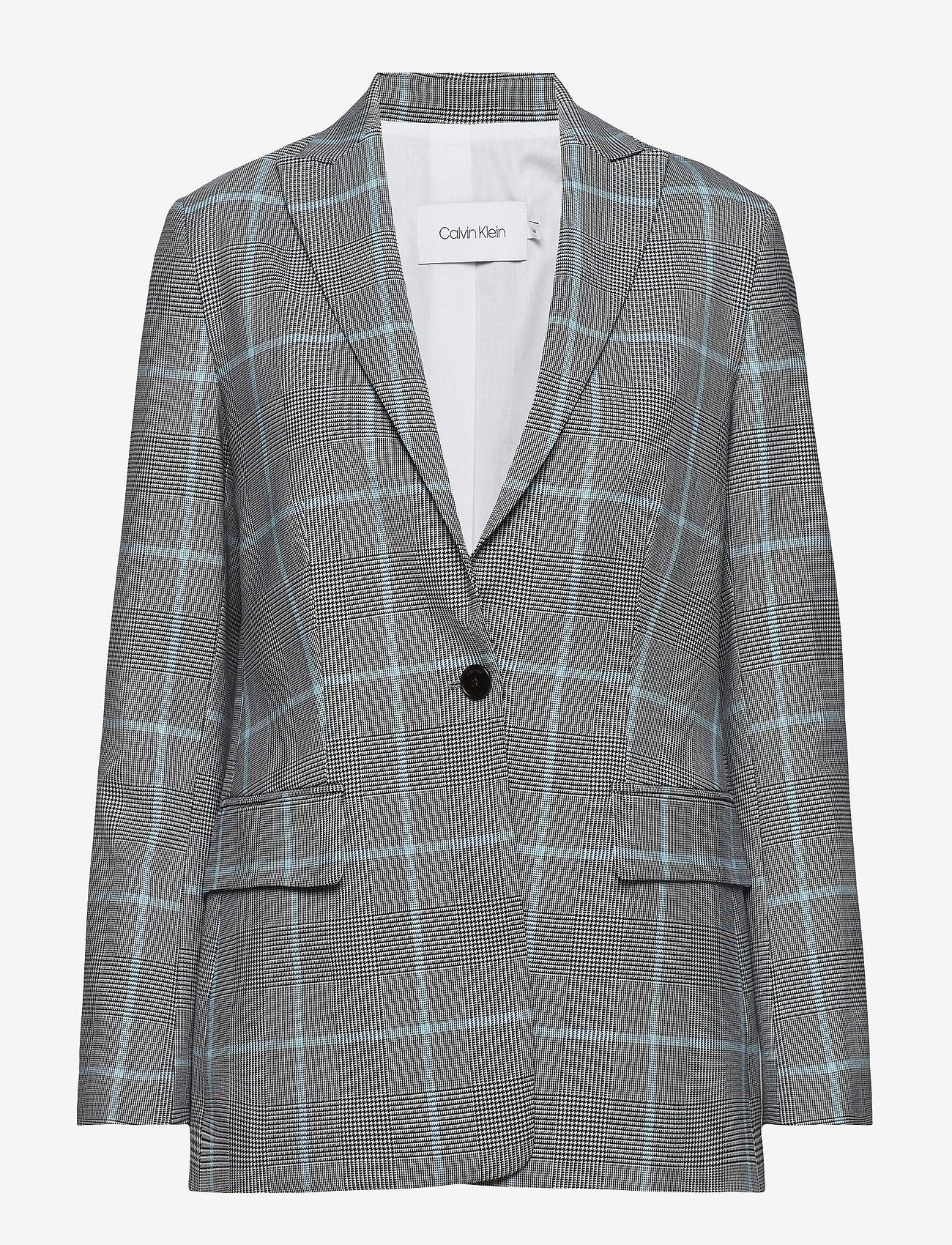 Calvin Klein - SINGLE BTTN CHK BLAZ - blazers - enlarged prince of wales - 0