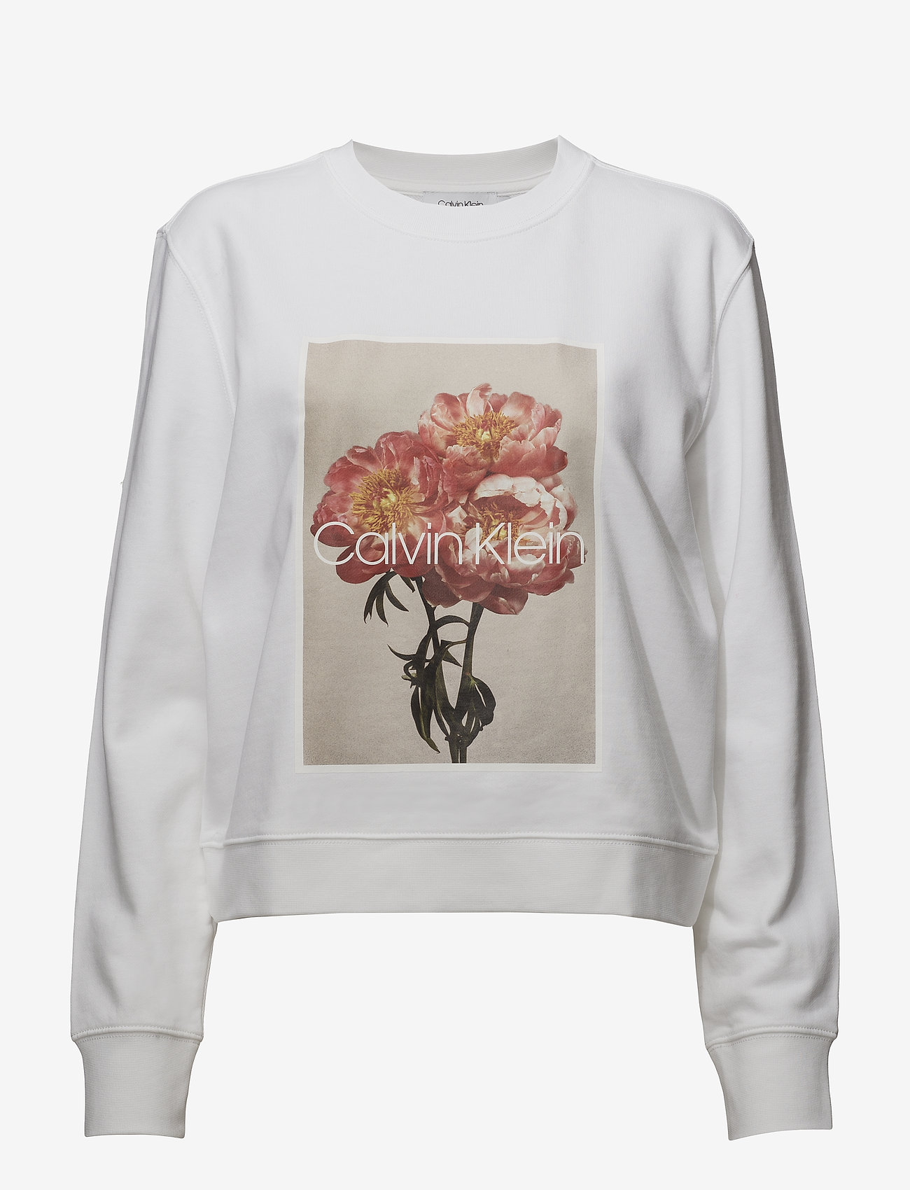 Calvin Klein - PRT GRAPHIC  SWEATSH - sweats - white