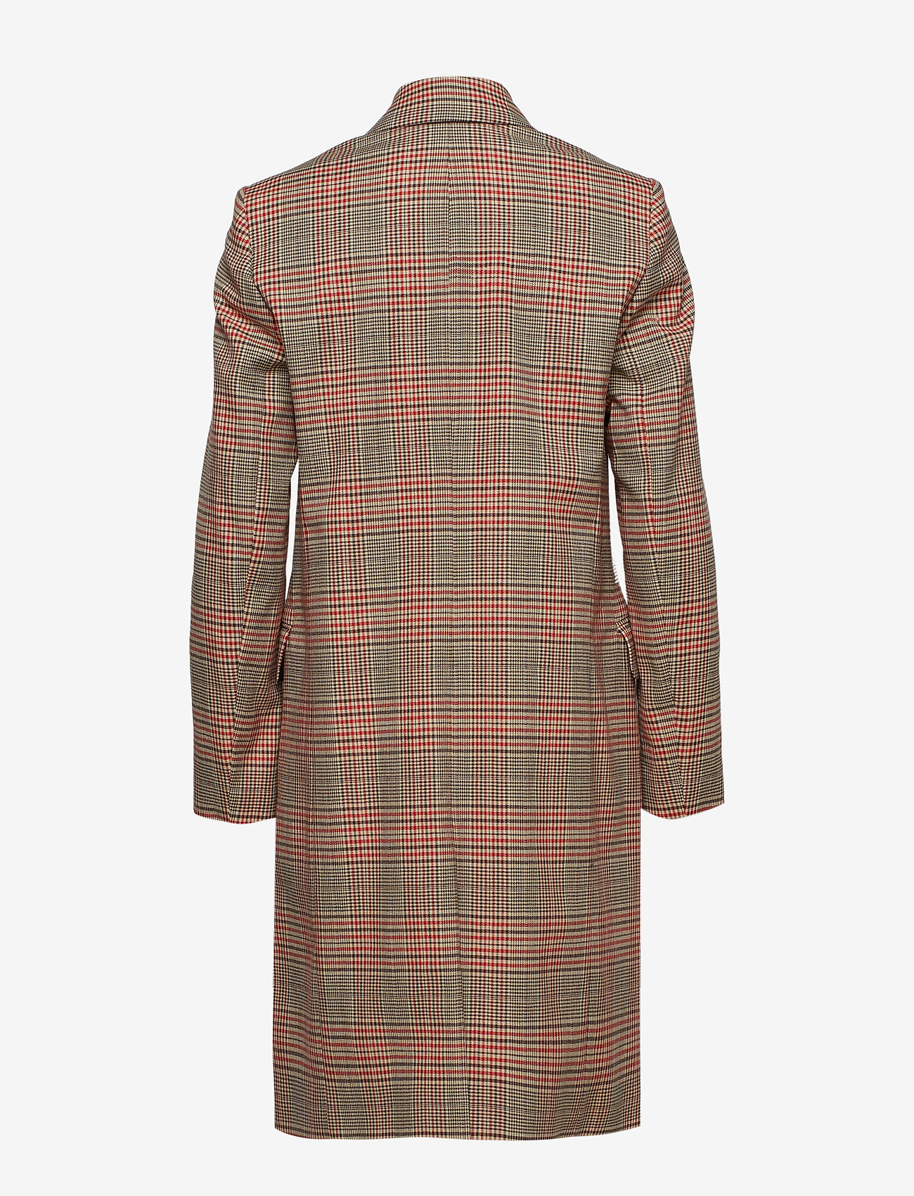 Fitted Double Breasted Coat (Heritage Check) - Calvin Klein IVKRQS