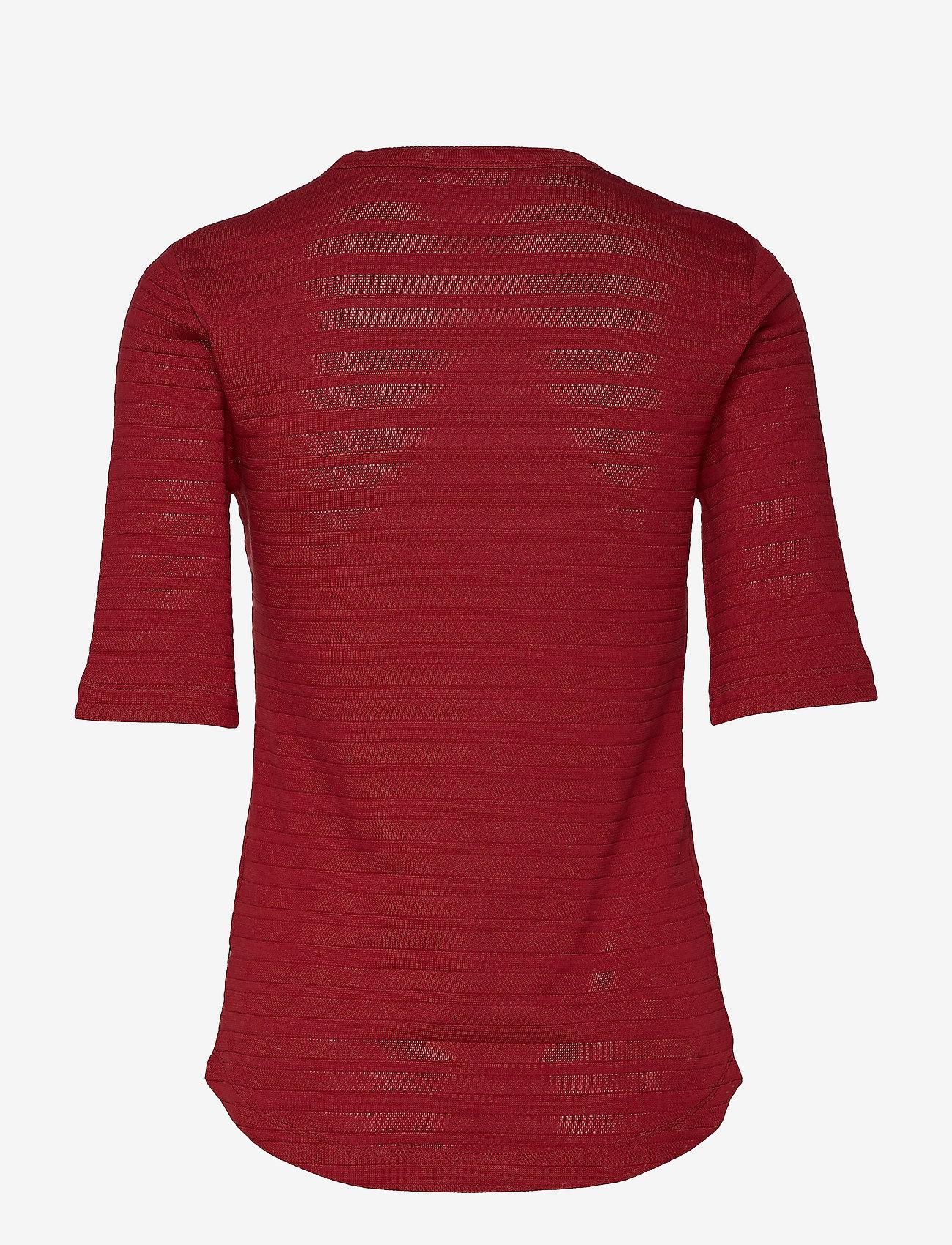 Pointelle T-shirt Ss (Ck Bright Burgundy) - Calvin Klein w8sz1G