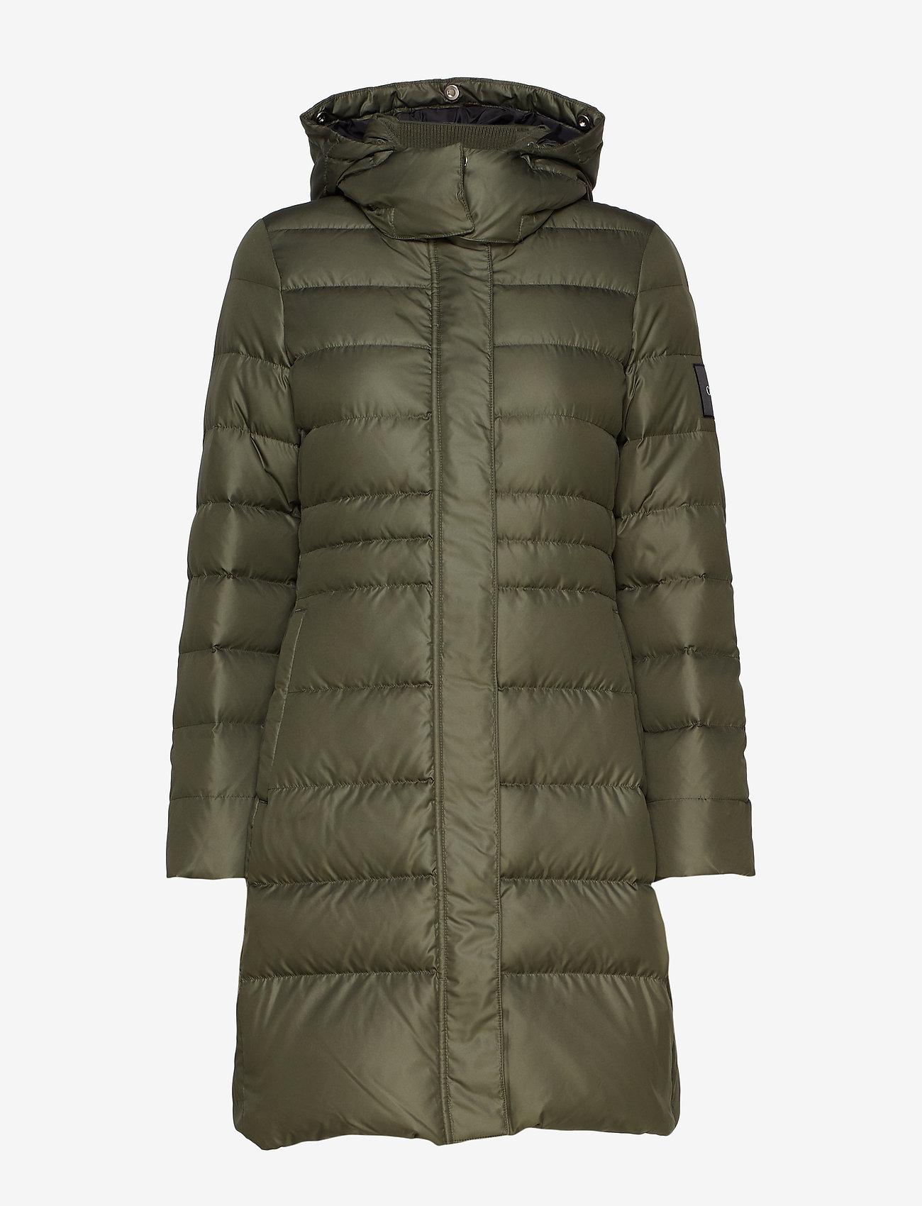 Calvin Klein Essential Down Coat - Jackor & Kappor Dark Olive