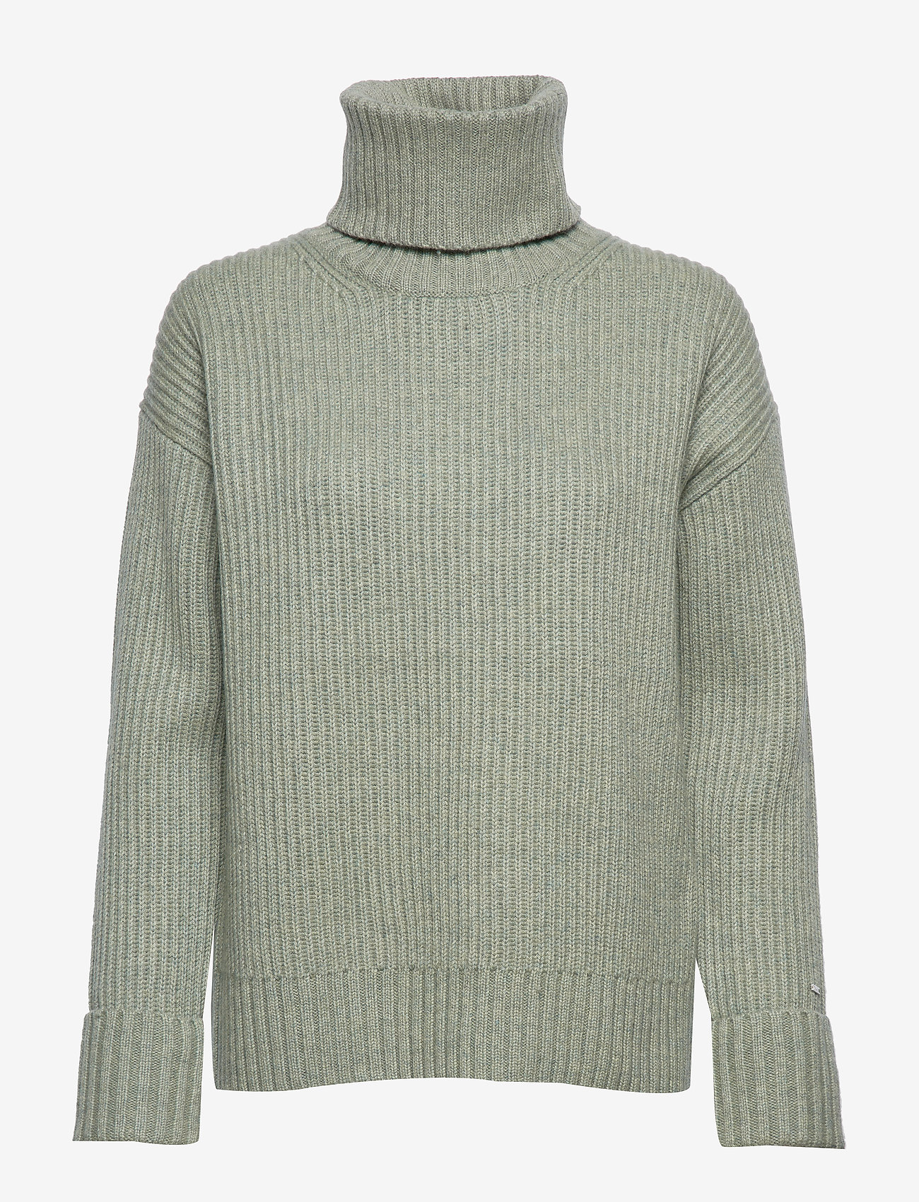Calvin Klein - LS TURTLE NECK SWEATER - turtlenecks - seagrass - 0