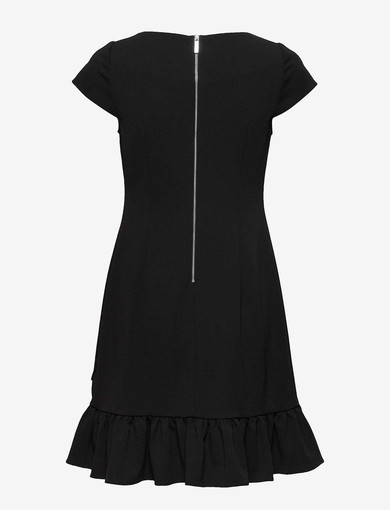 Calvin Klein Ss Ruffle Hem Dress - Robes Black