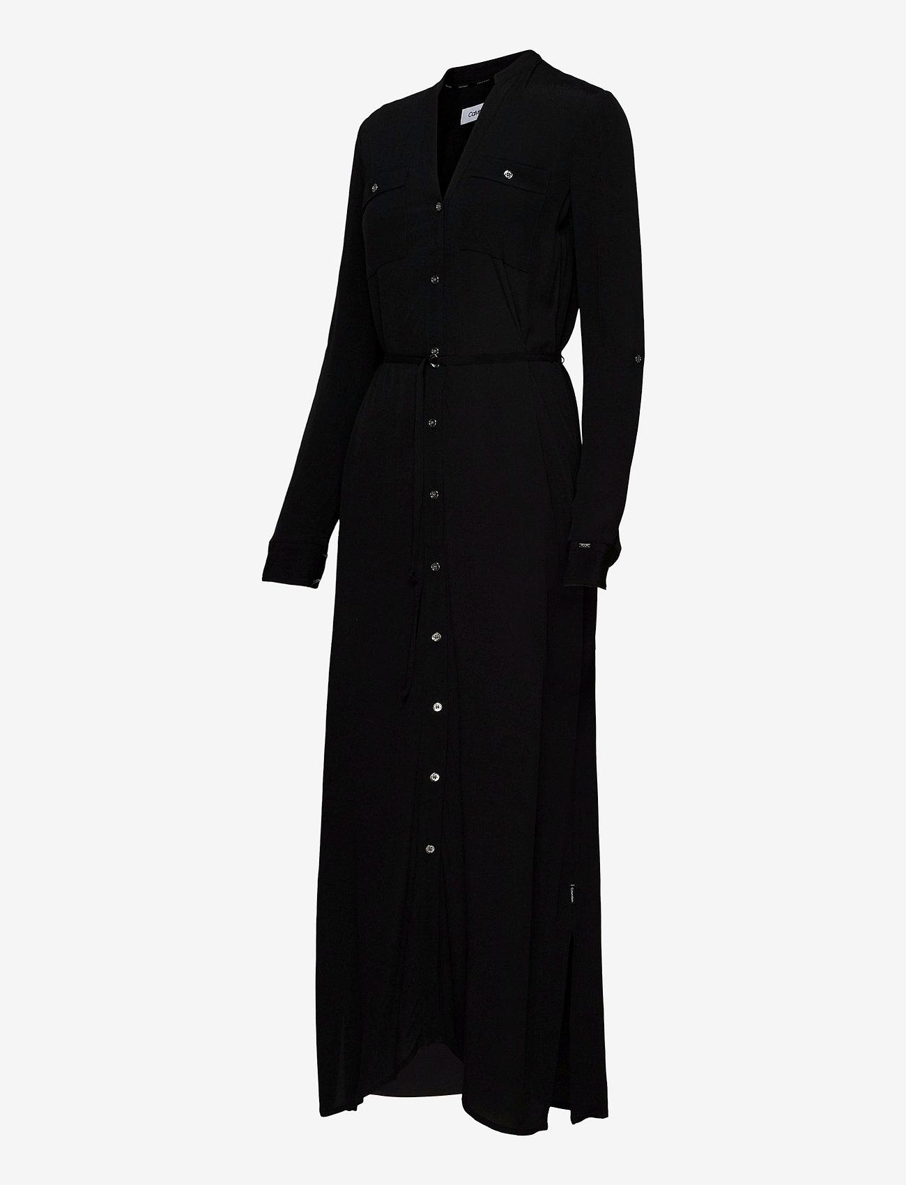 Ls V-neck Pkt Shirt Maxi Dress (Ck Black) (1600 kr) - Calvin Klein