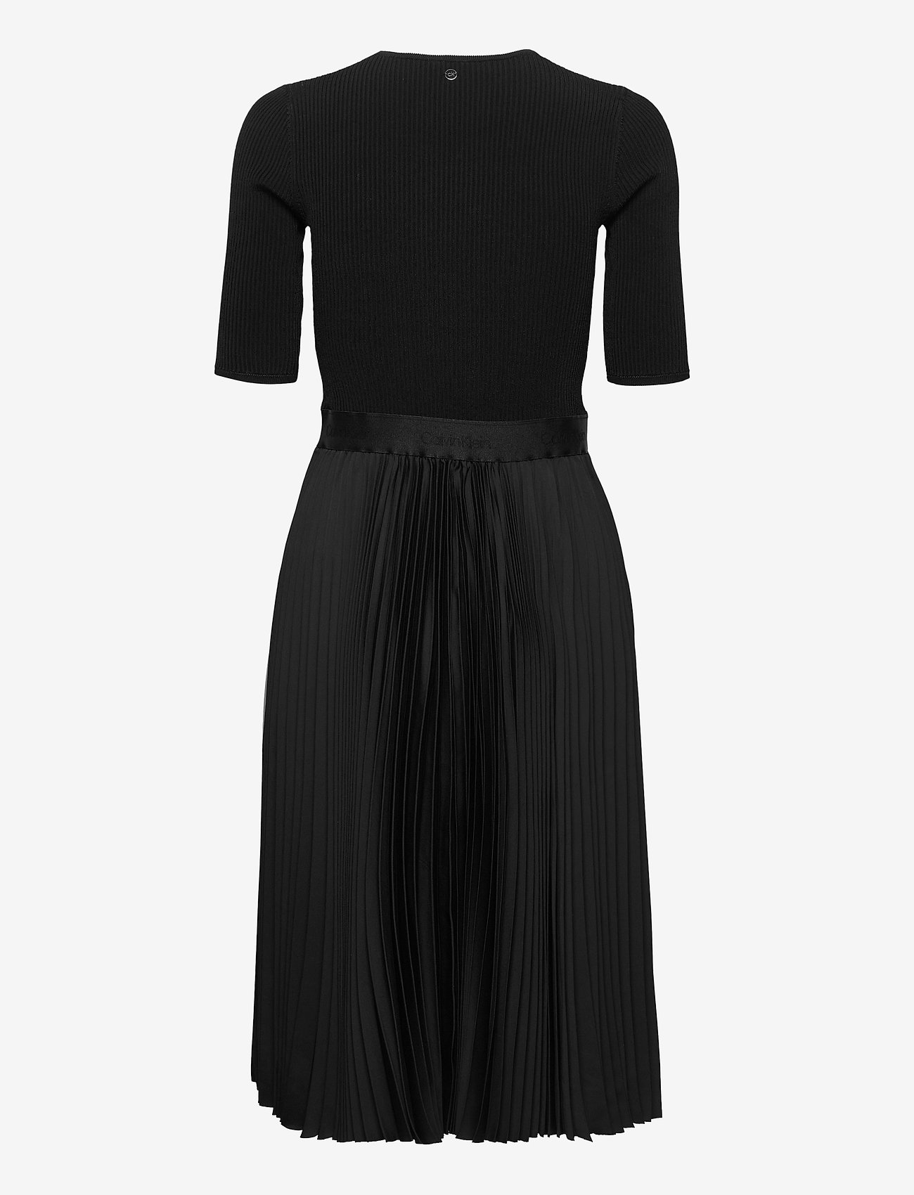 Ns Pleated Skirt Midi Dress (Ck Black) (2600 kr) - Calvin Klein