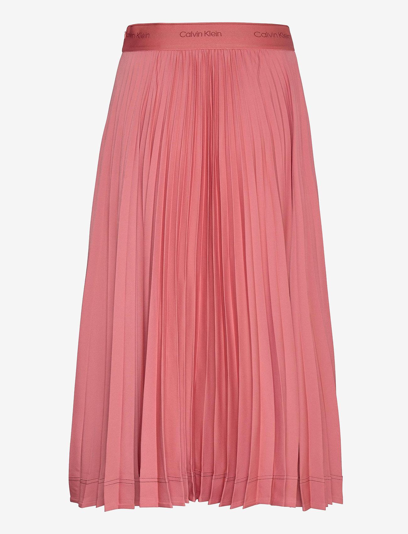 Sunray Pleat Midi Skirt (Antique Pink) (1500 kr) - Calvin Klein