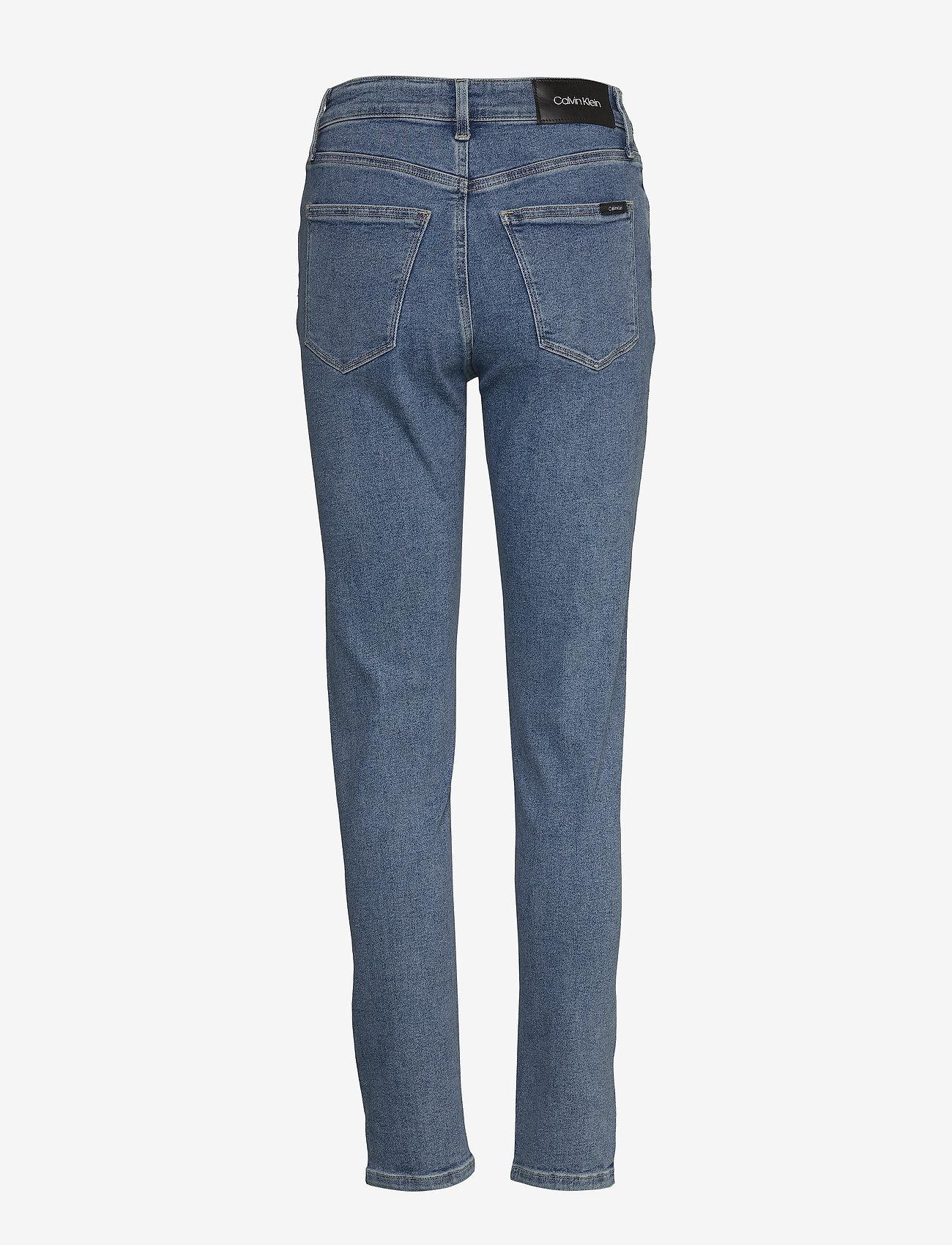 Calvin Klein - HIGH RISE SLIM PANT - wąskie dżinsy - natal blue - 1
