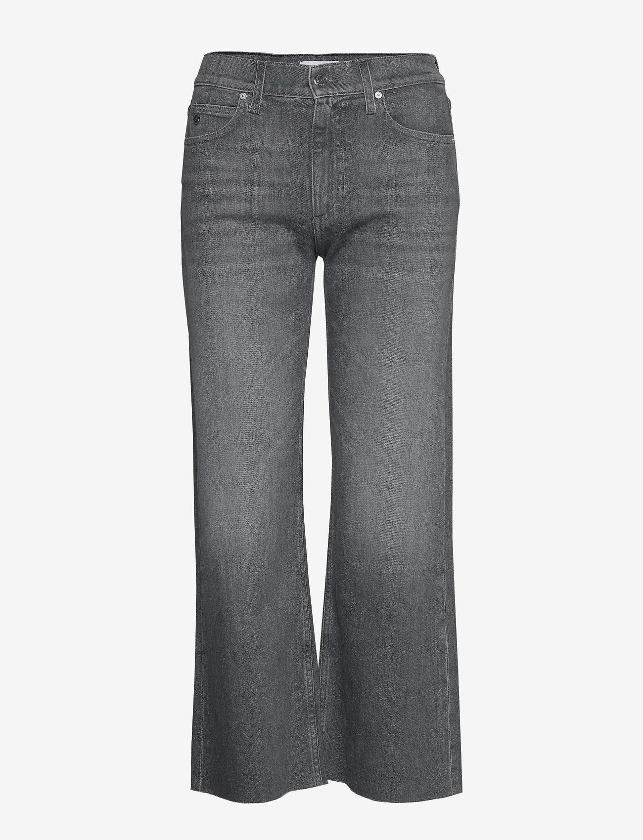 Calvin Klein - WIDE LEG CROP PANT - broeken met wijde pijpen - maceio mid grey - 0