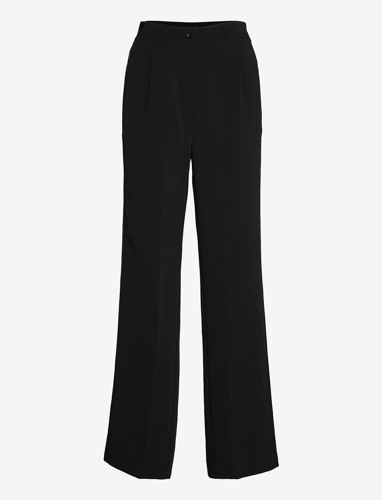 Calvin Klein - TRAVEL CREPE WIDE LEG PANT - bukser med brede ben - ck black - 0
