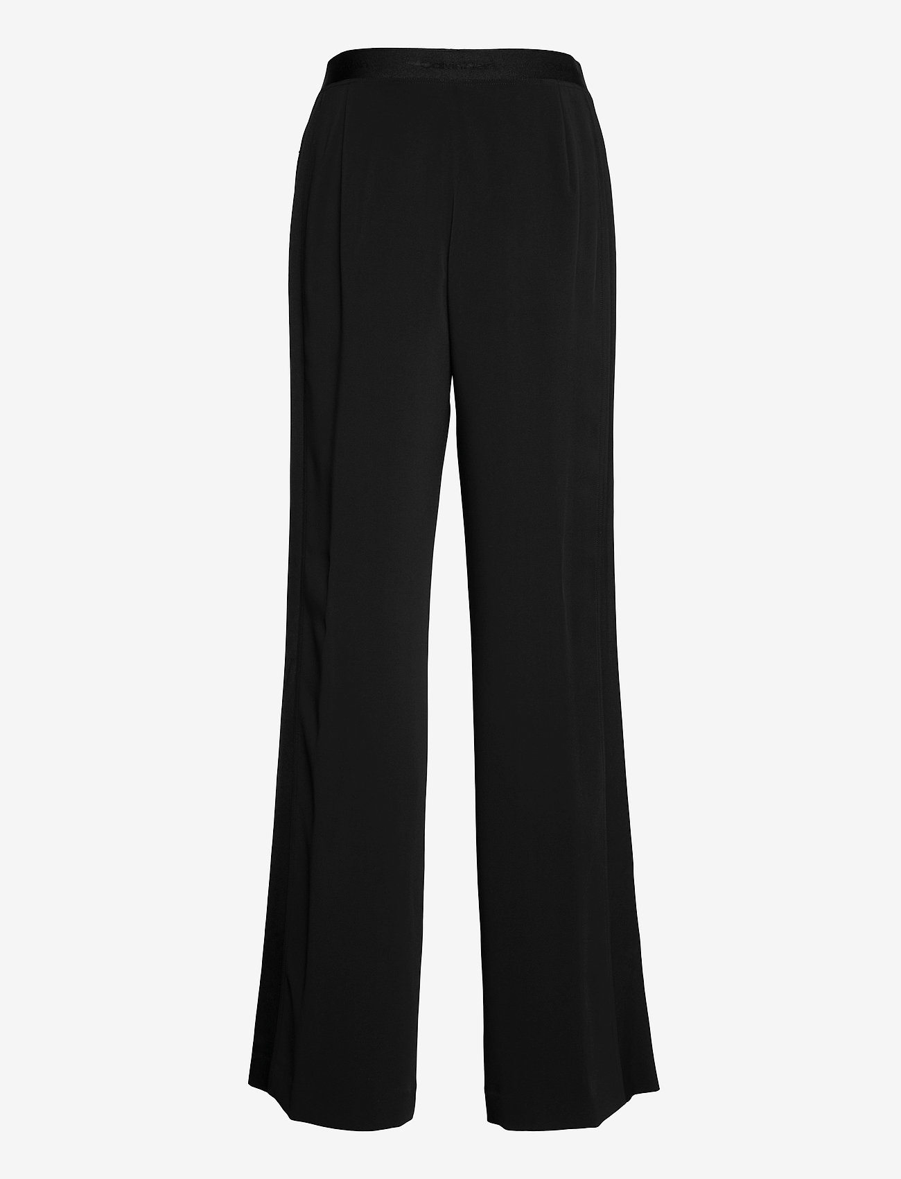 Calvin Klein - TRAVEL CREPE WIDE LEG PANT - bukser med brede ben - ck black - 1