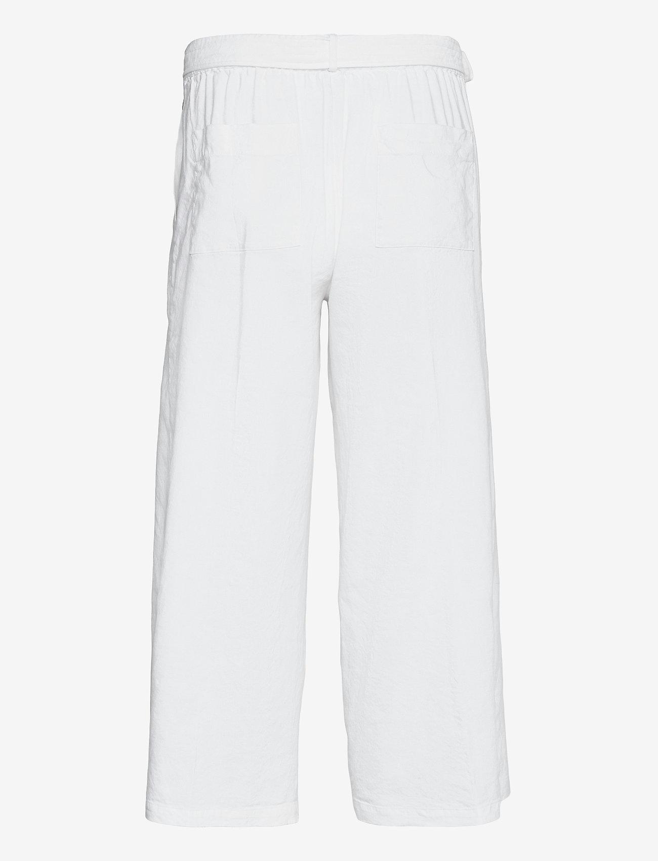 Calvin Klein - LINEN CULOTTE - bukser med brede ben - bright white - 1