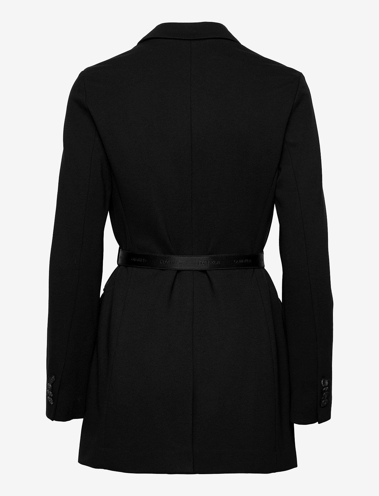 Calvin Klein - RECYCLED MILANO BELTED BLAZER - oversized blazere - ck black - 1