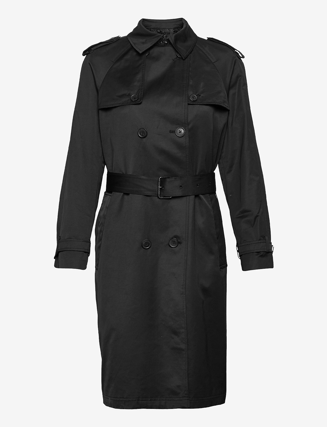 Calvin Klein - COTTON NYLON TRENCH COAT - trenchcoats - ck black - 0