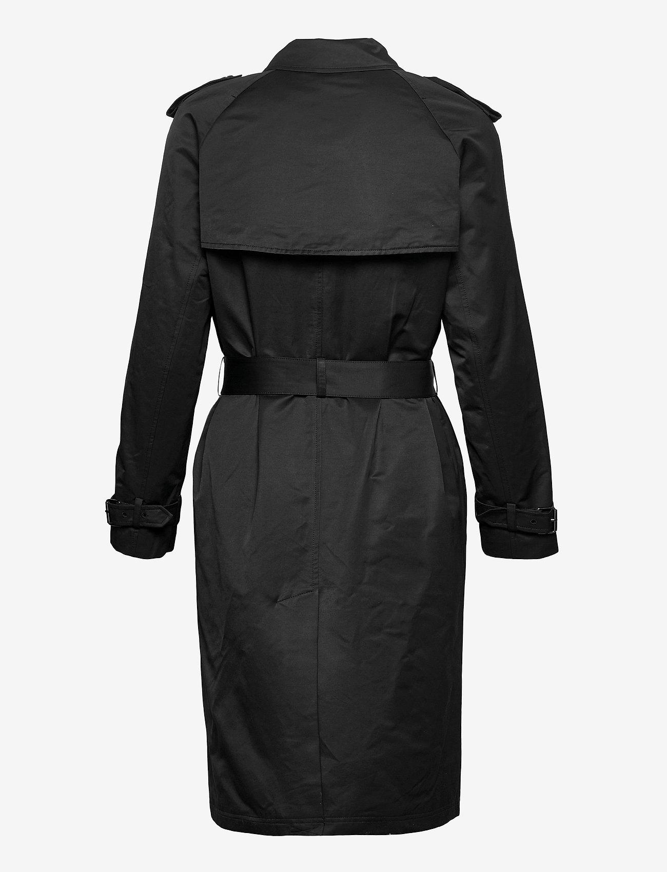 Calvin Klein - COTTON NYLON TRENCH COAT - trenchcoats - ck black - 1