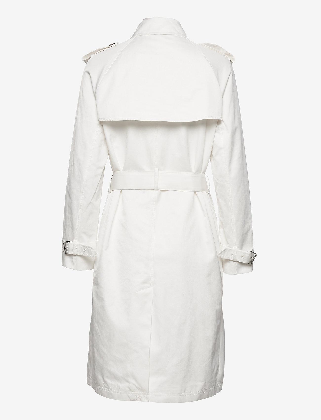 Calvin Klein - COTTON NYLON TRENCH COAT - trenchcoats - ecru - 1