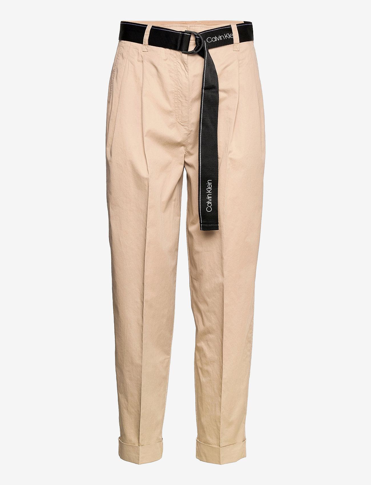 Calvin Klein - SILKY TOUCH PANT - pantalons droits - humus - 0