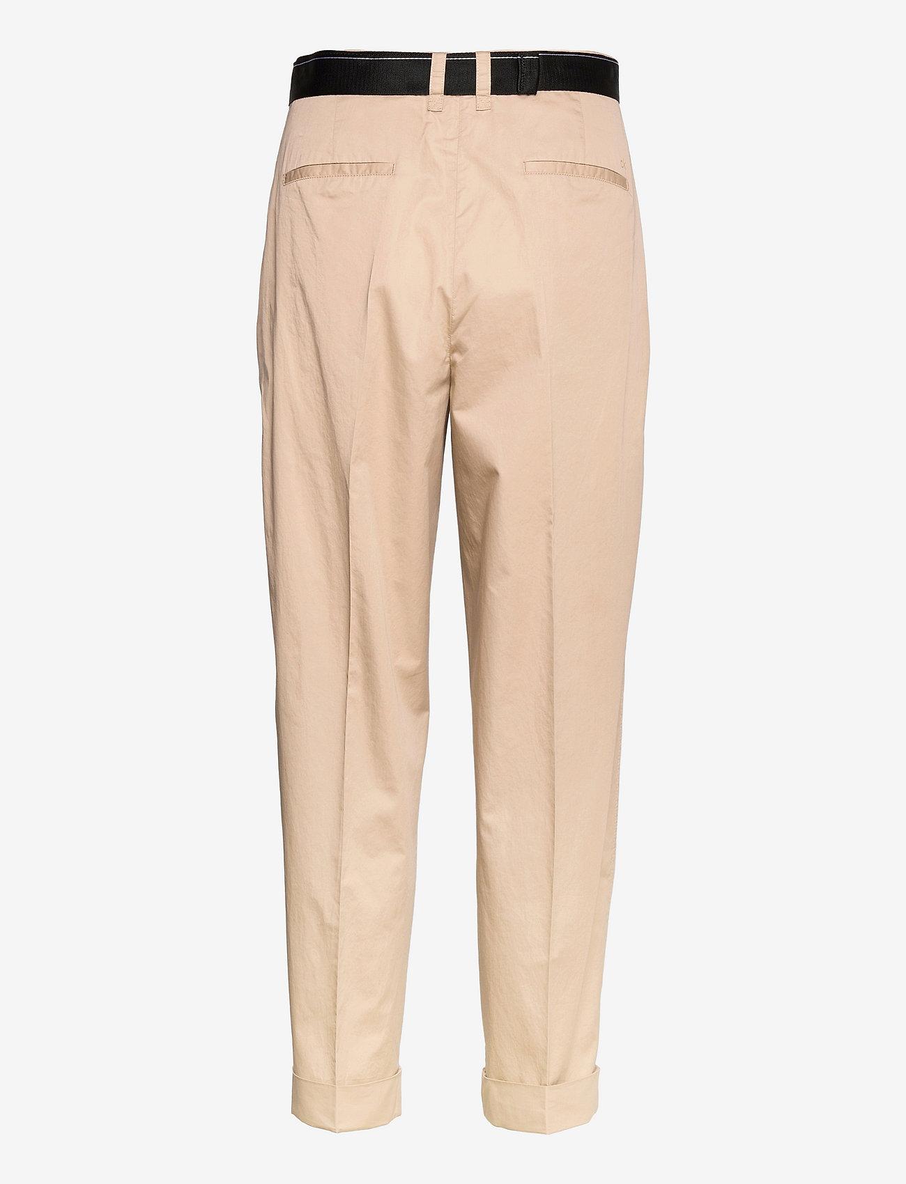 Calvin Klein - SILKY TOUCH PANT - pantalons droits - humus - 1
