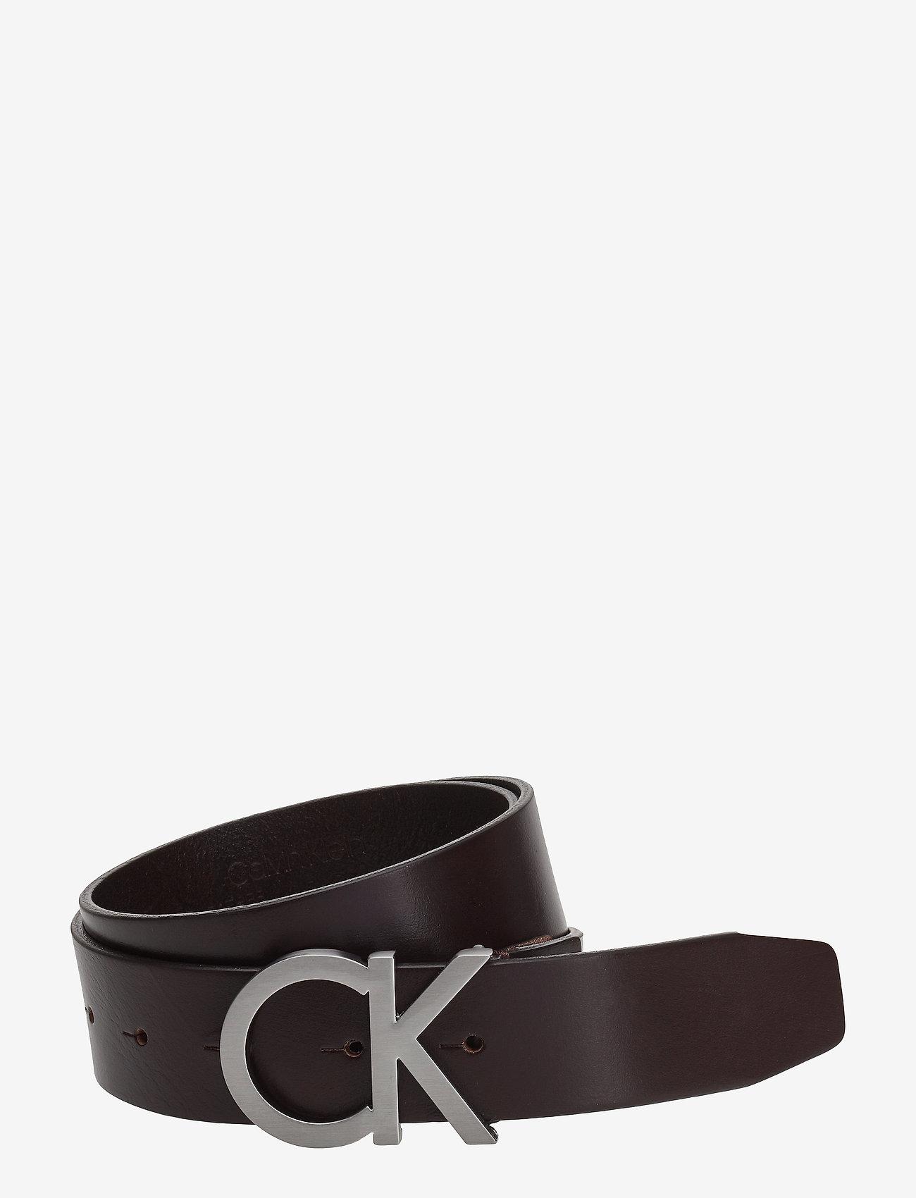 Calvin Klein - CK ADJ. BUCKLE BELT - belts - turkish coffe - 0