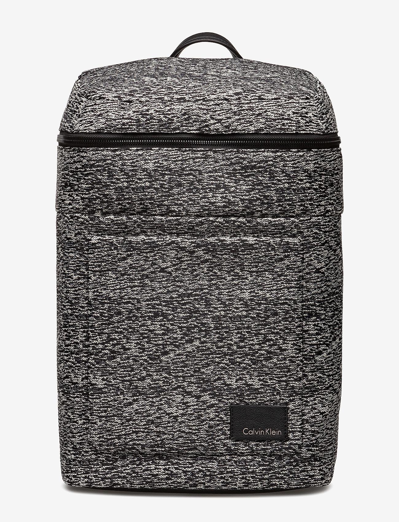 Calvin Klein - ILAY JACQUARD BACKPA - ryggsäckar - black/dusty ivory - 0