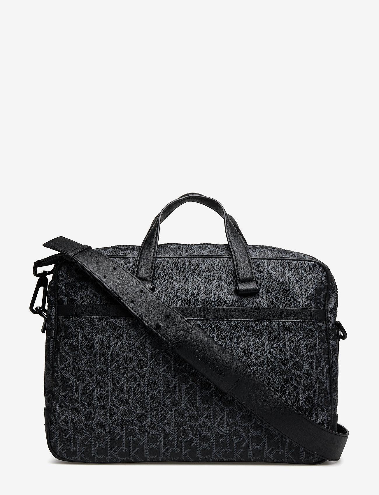 Calvin Klein - CK MONO LAPTOP BAG E - tietokonelaukut - black monogram - 0