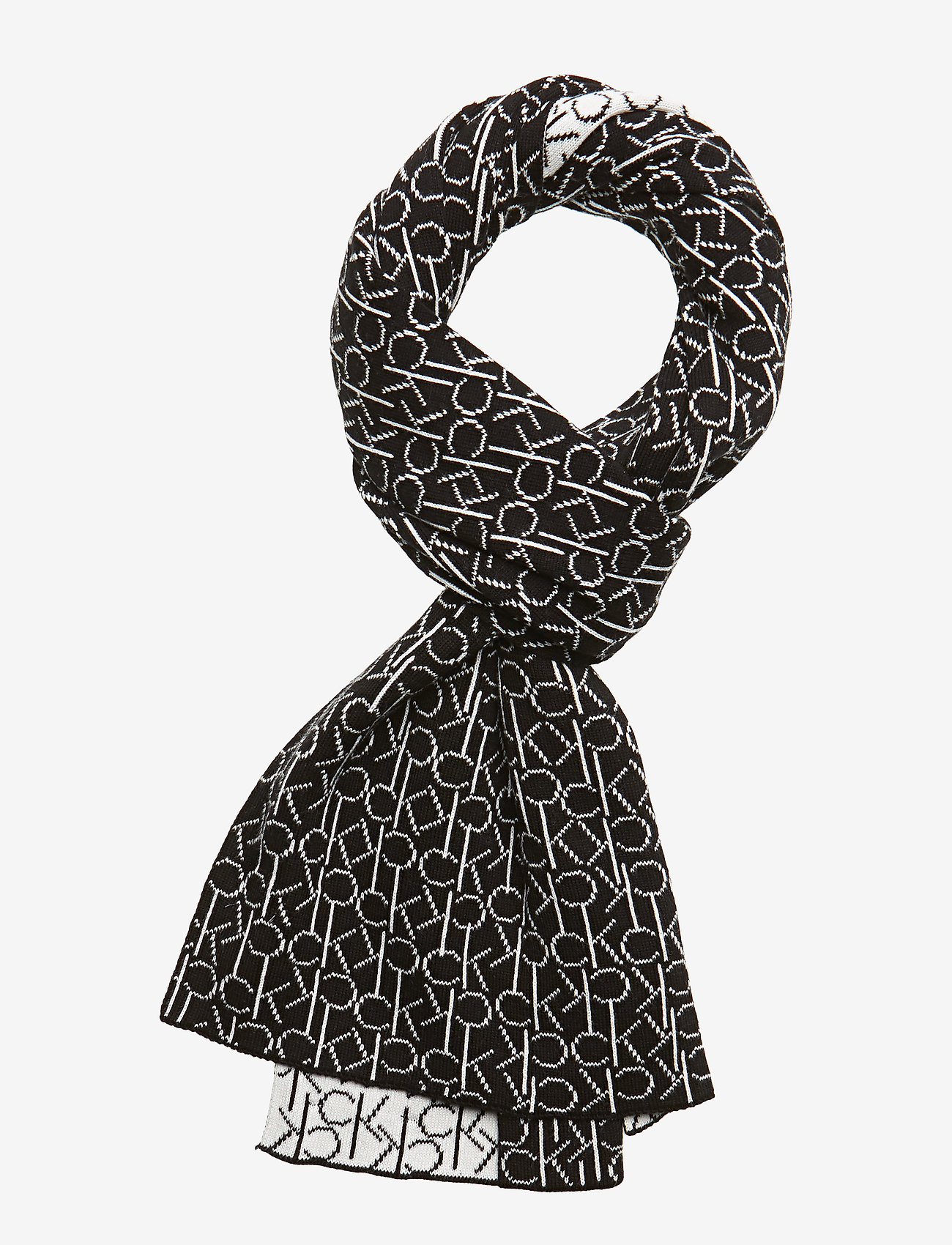 Calvin Klein - CK KNITTED SCARF&BEA - mutsen - black - 1