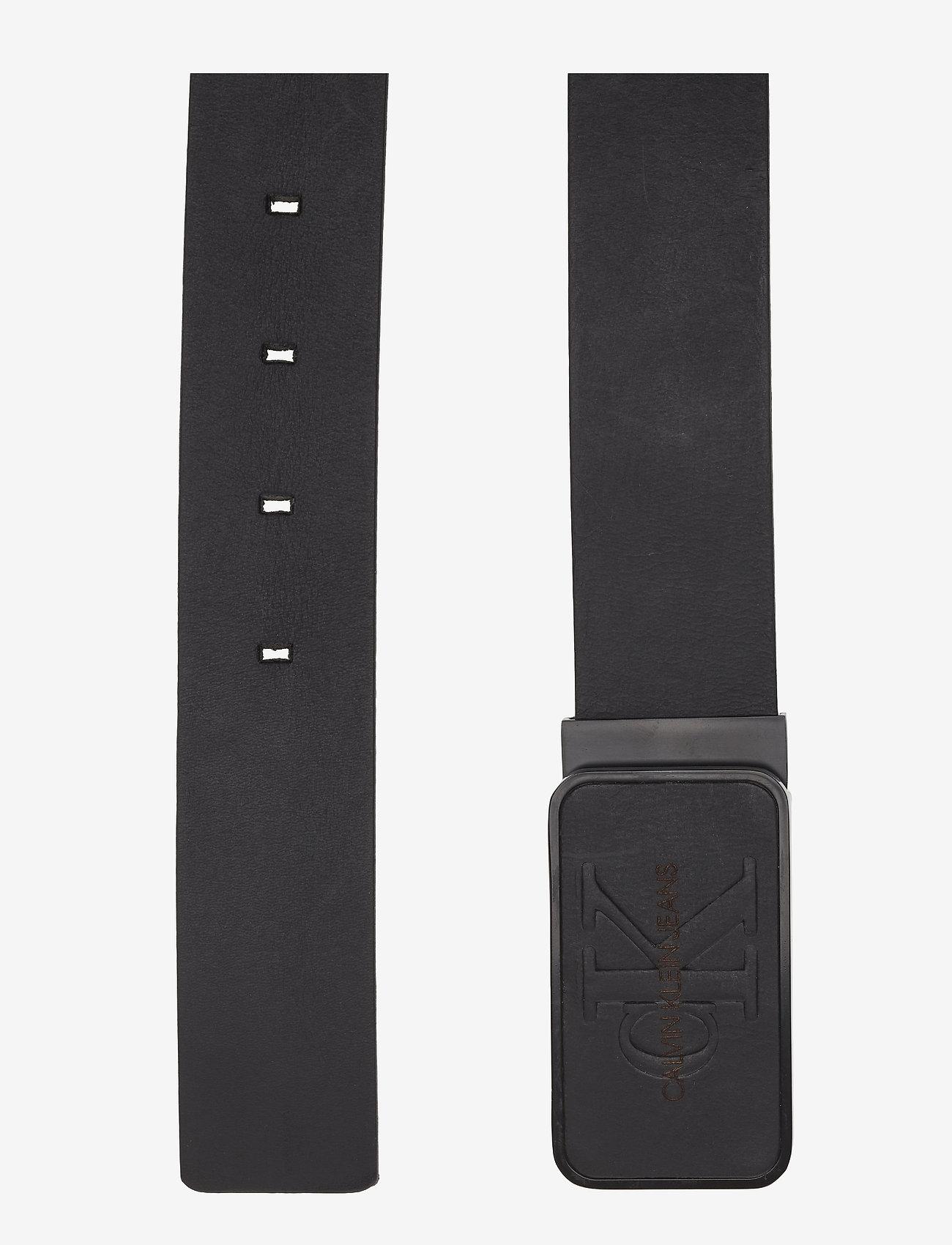 Calvin Klein - J 3.5CM ADJ MONO PLA - belts - black - 1