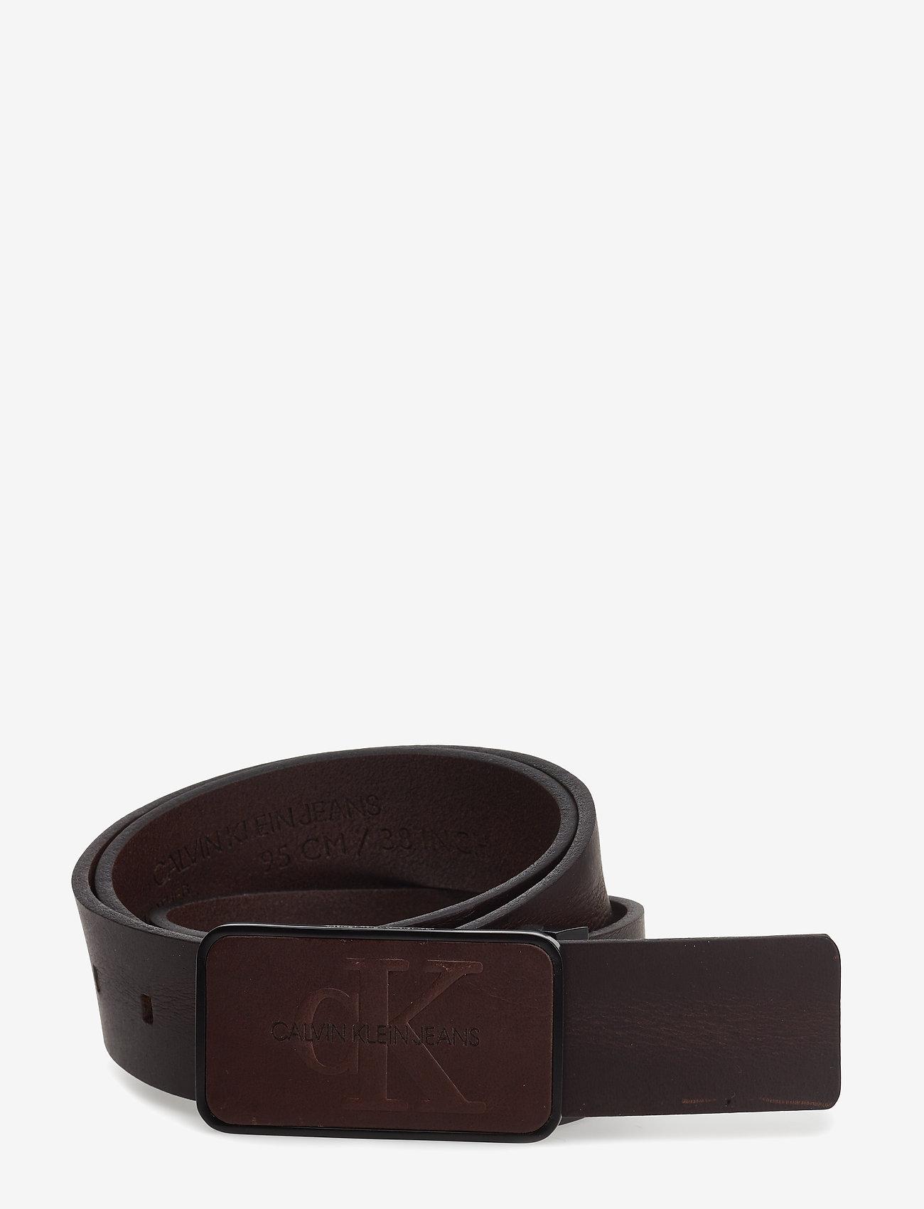 Calvin Klein - J 3.5CM ADJ MONO PLA - ceintures classiques - turkish coffee - 0