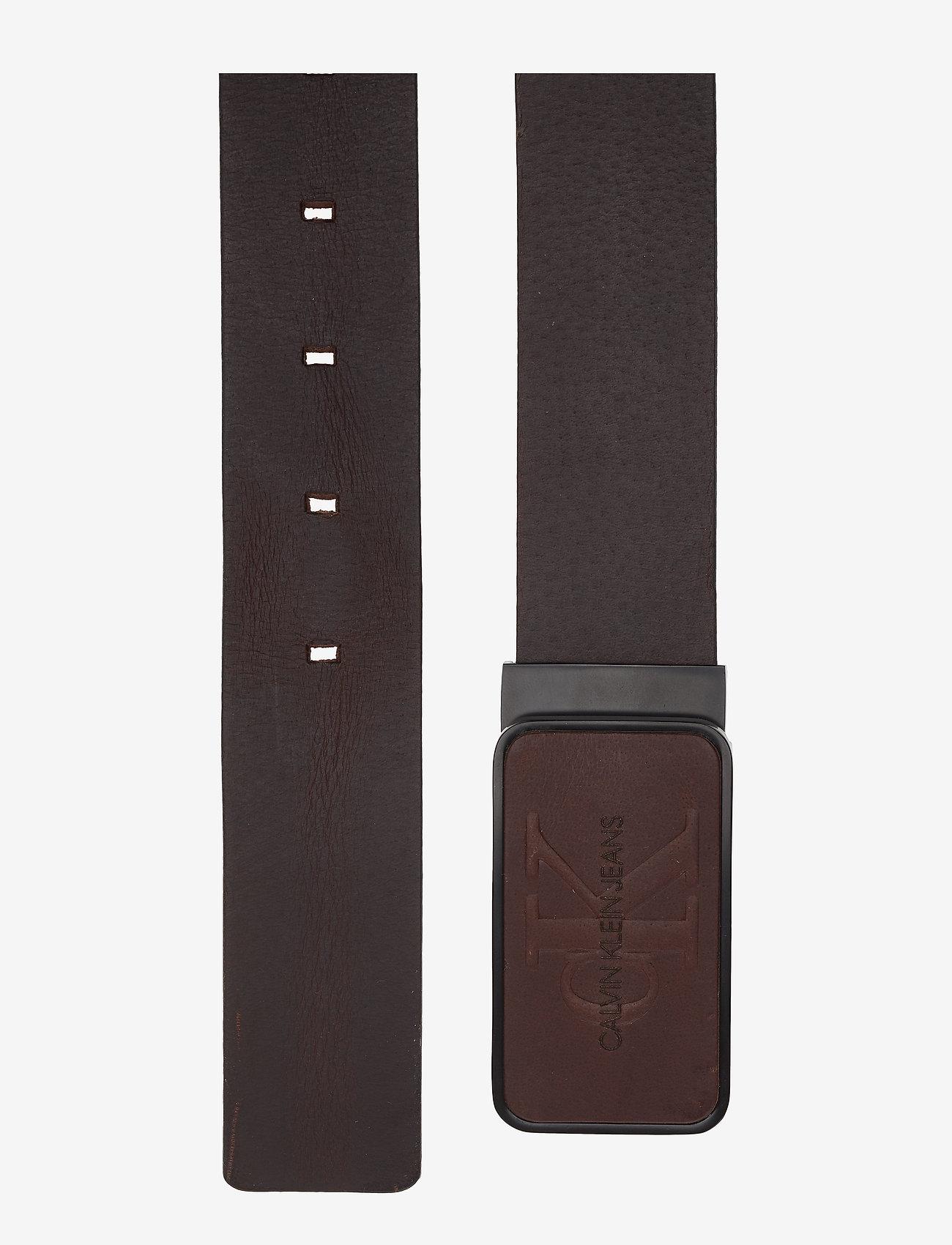Calvin Klein - J 3.5CM ADJ MONO PLA - ceintures classiques - turkish coffee - 1