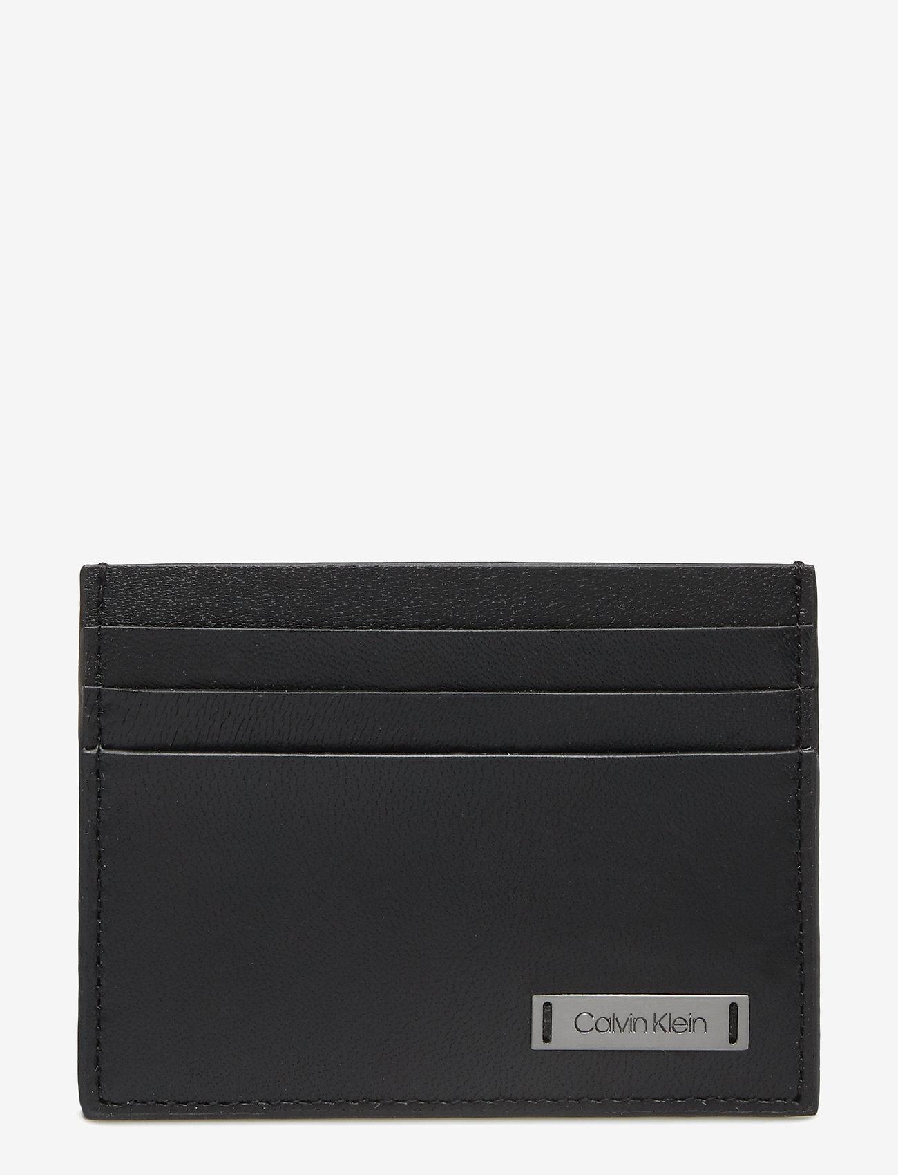 Calvin Klein - SMOOTH W PLAQUE CARDHOLDER - cardholder - black - 0