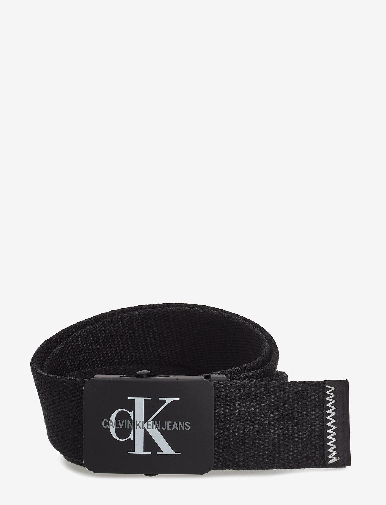 Calvin Klein - J 4CM ADJ.MONOGRAM C - ceintures classiques - black - 0