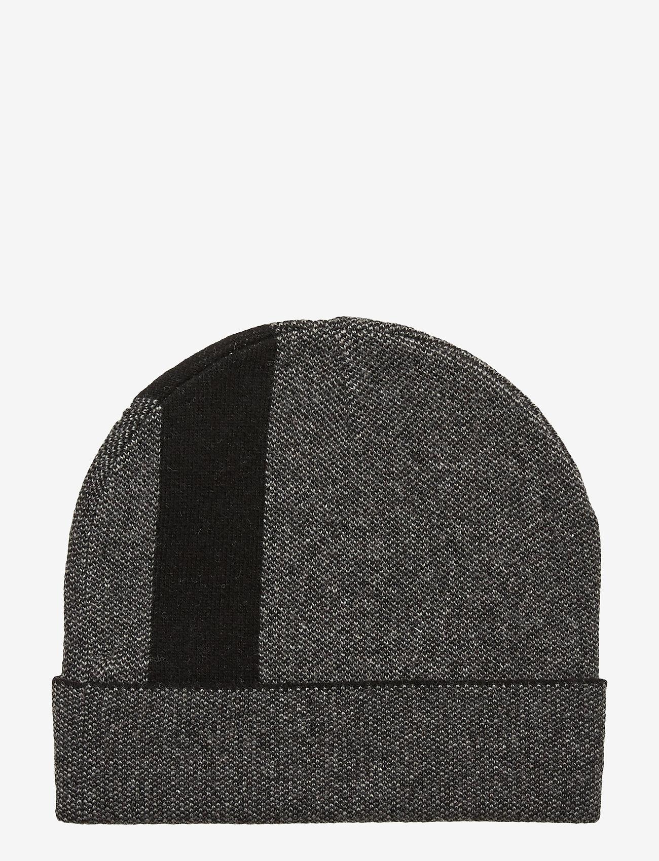 Calvin Klein - KNIT LOGO BEANIE - mutsen - black - 1