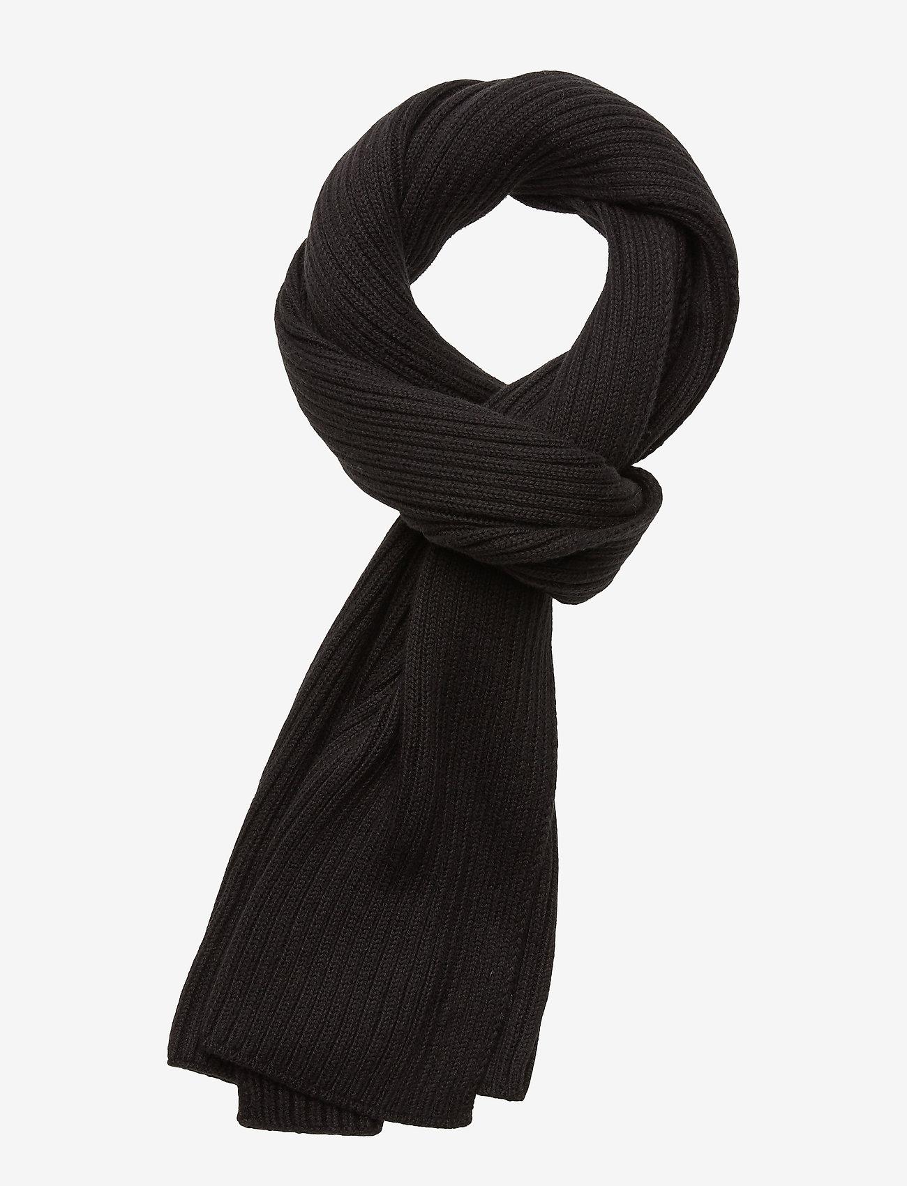 Calvin Klein - BASIC RIB SCARF - scarves - black - 0