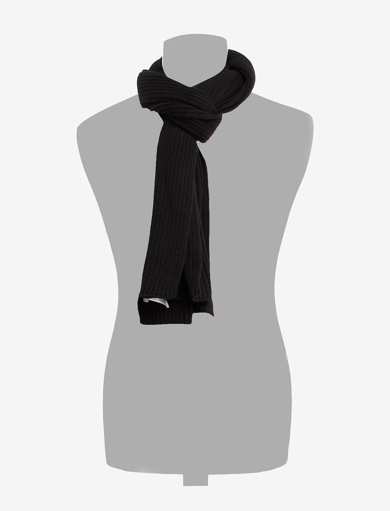 Calvin Klein - BASIC RIB SCARF - scarves - black - 1
