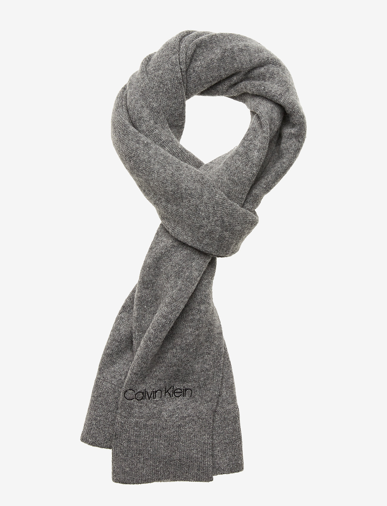 Calvin Klein - BOILED WOOL SCARF - sjaals - mid grey heather - 0