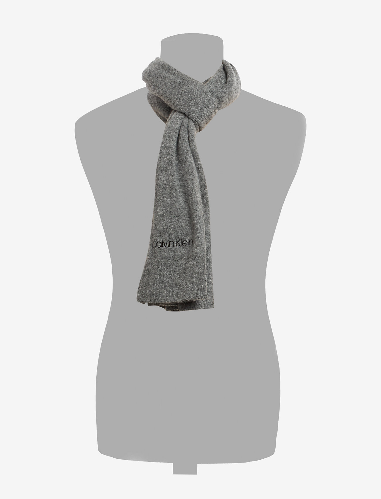 Calvin Klein - BOILED WOOL SCARF - sjaals - mid grey heather - 1