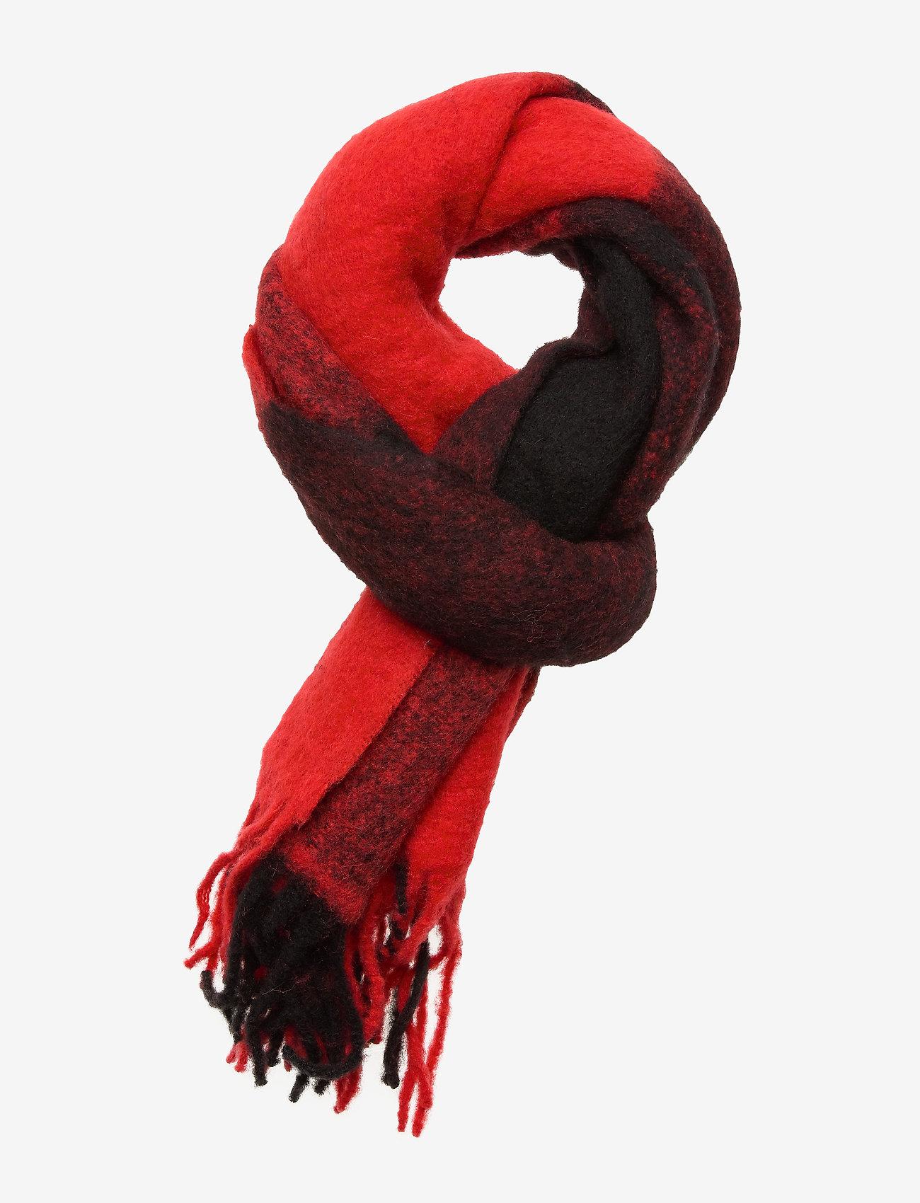 Calvin Klein - J BUFFALO CHECK WOOL - sjaals - black & red buffalo check - 0