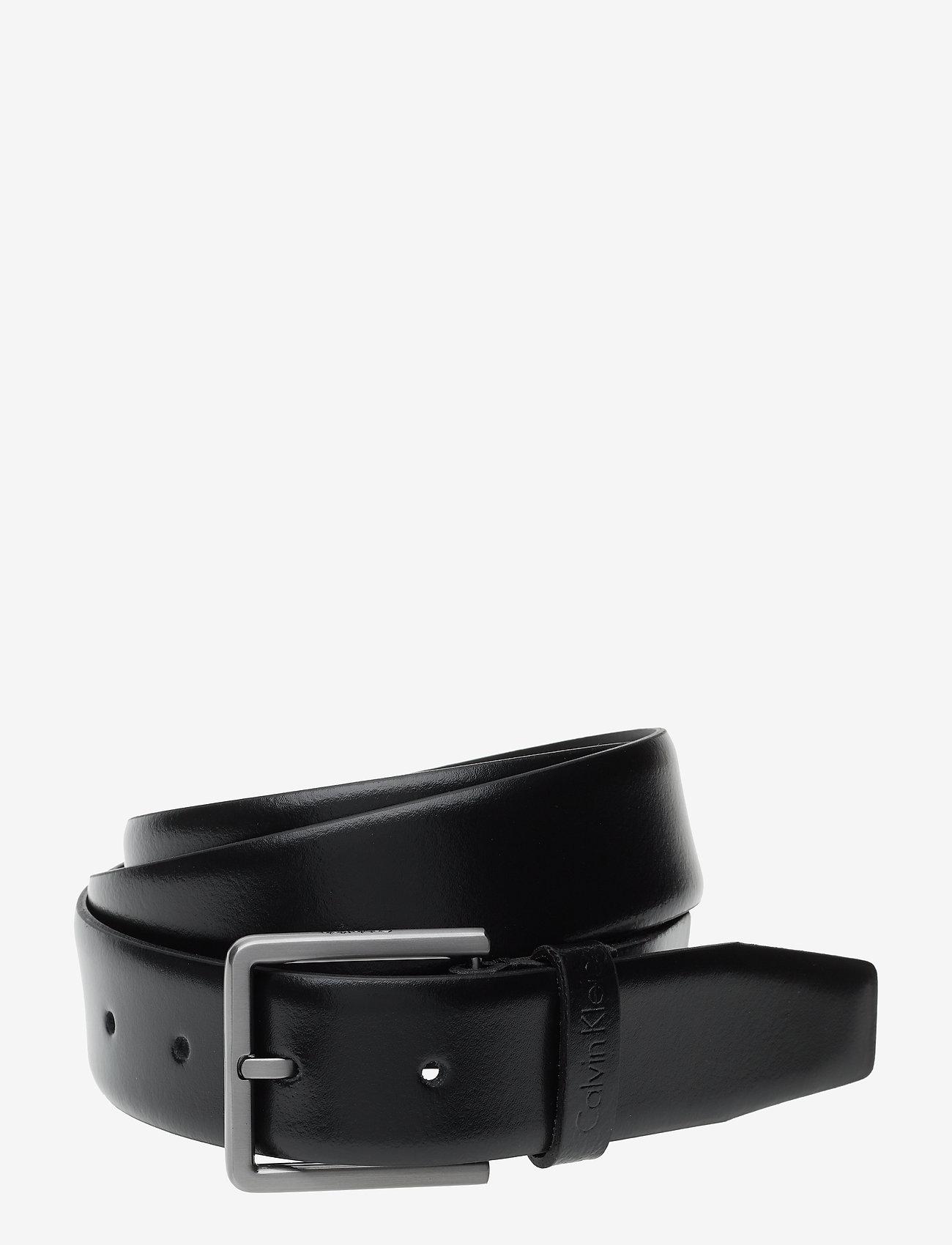 Calvin Klein - 3.5CM ADJ.BOMBED BELT - ceintures classiques - black - 0