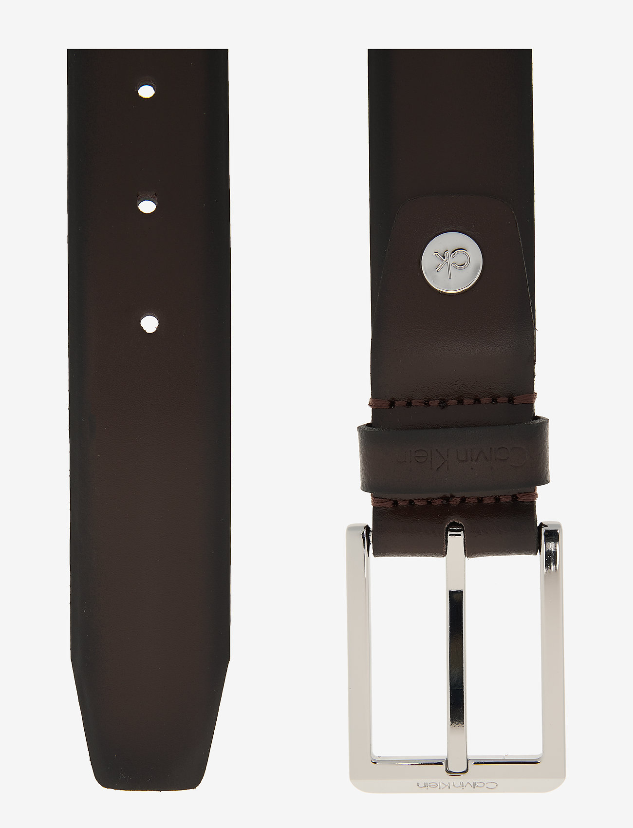 Calvin Klein - 35MM ADJ BOMBED BELT - riemen - dark brown - 1