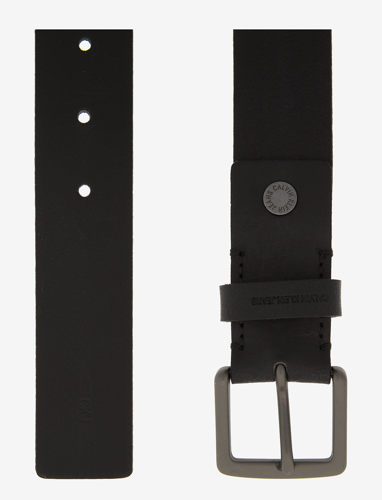 Calvin Klein - CKJ UNIFORM CLASSICADJBELT 35 MM - belts - black - 1