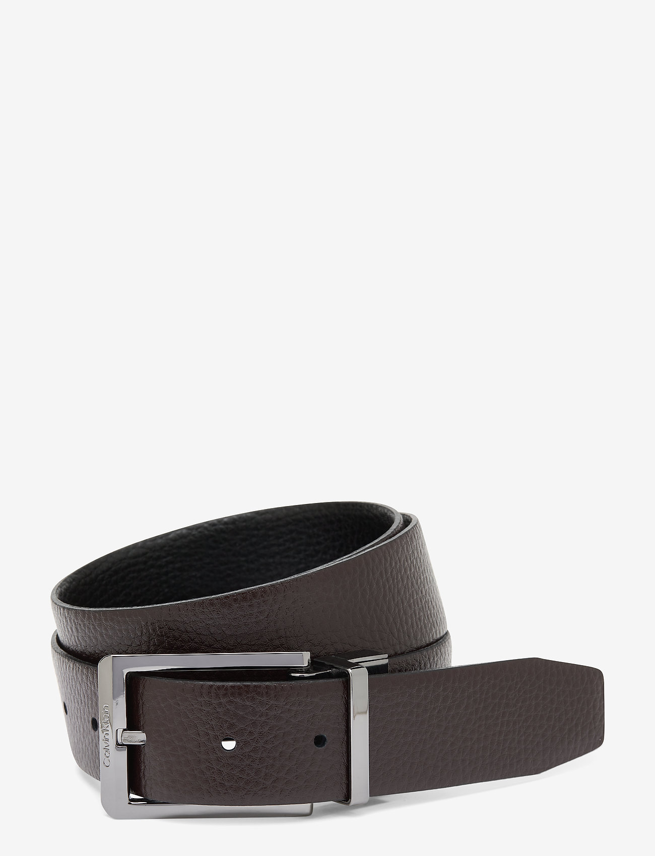 Calvin Klein - 35MM ADJ/REV SKIVED BUCKLE - ceintures classiques - black / dark brown - 1