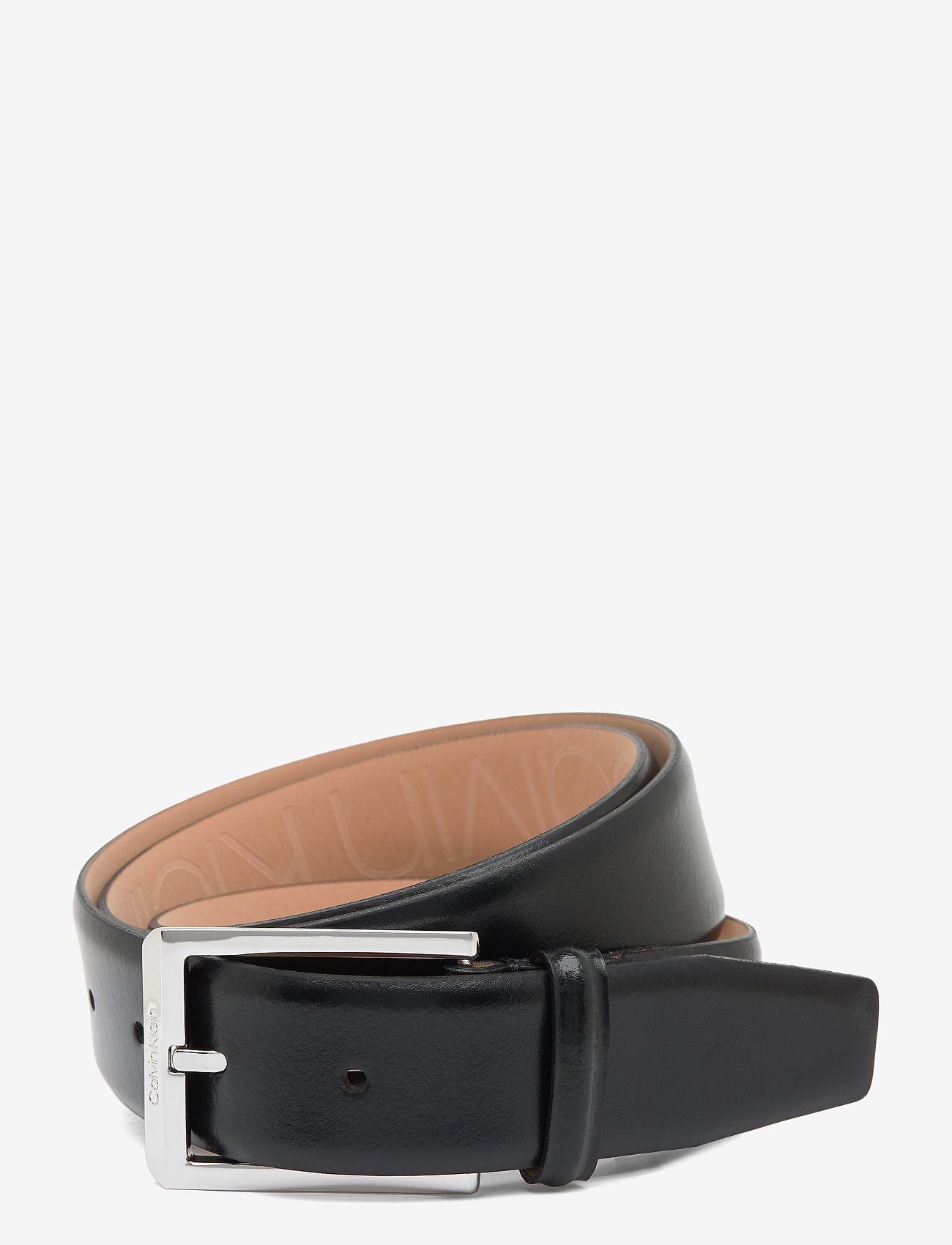 Calvin Klein - 35MM ADJ SKIVED BUCKLE - riemen - black - 0